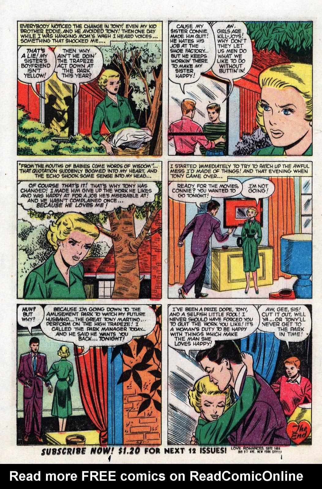 Love Romances (1949) issue 19 - Page 24