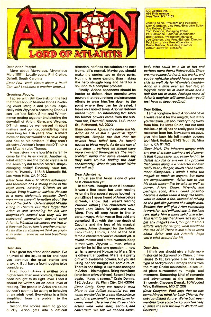 Read online Arion, Lord of Atlantis comic -  Issue #17 - 26