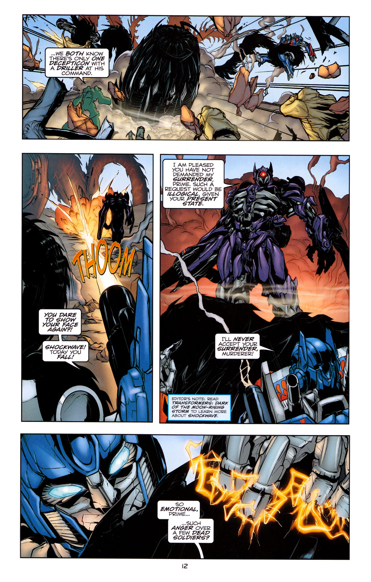Read online Transformers: Dark of the Moon Movie Adaptation comic -  Issue #1 - 14