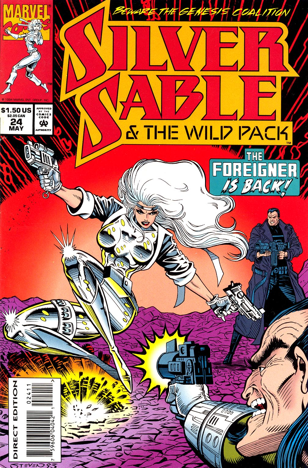 Read online Silver Sable and the Wild Pack comic -  Issue #24 - 2