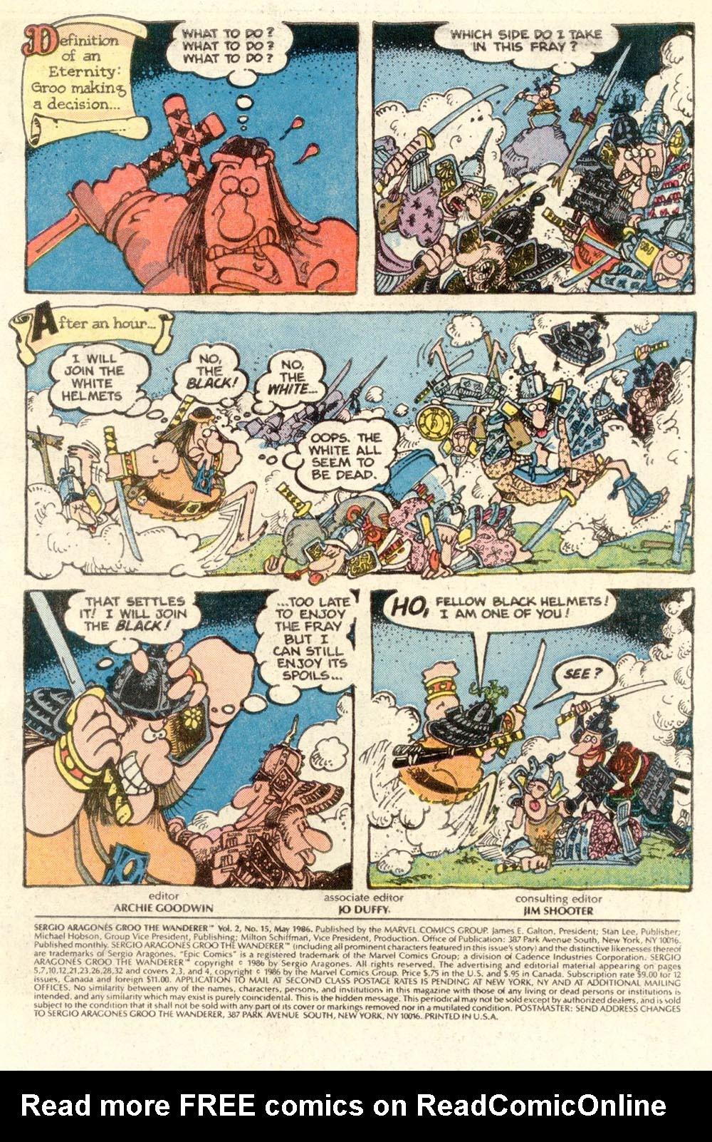 Read online Sergio Aragonés Groo the Wanderer comic -  Issue #15 - 2