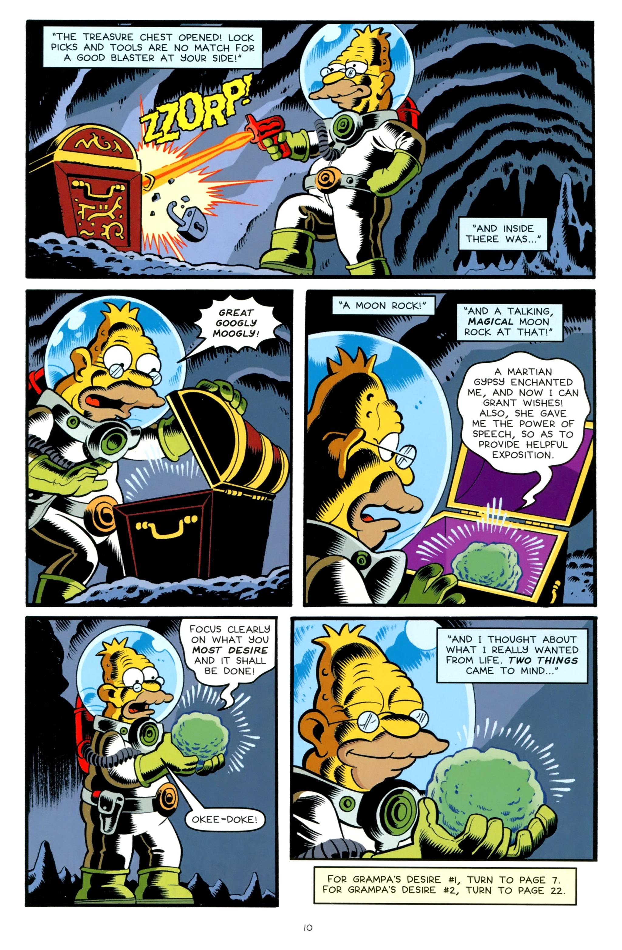 Read online Simpsons One-Shot Wonders: Grampa comic -  Issue # Full - 12