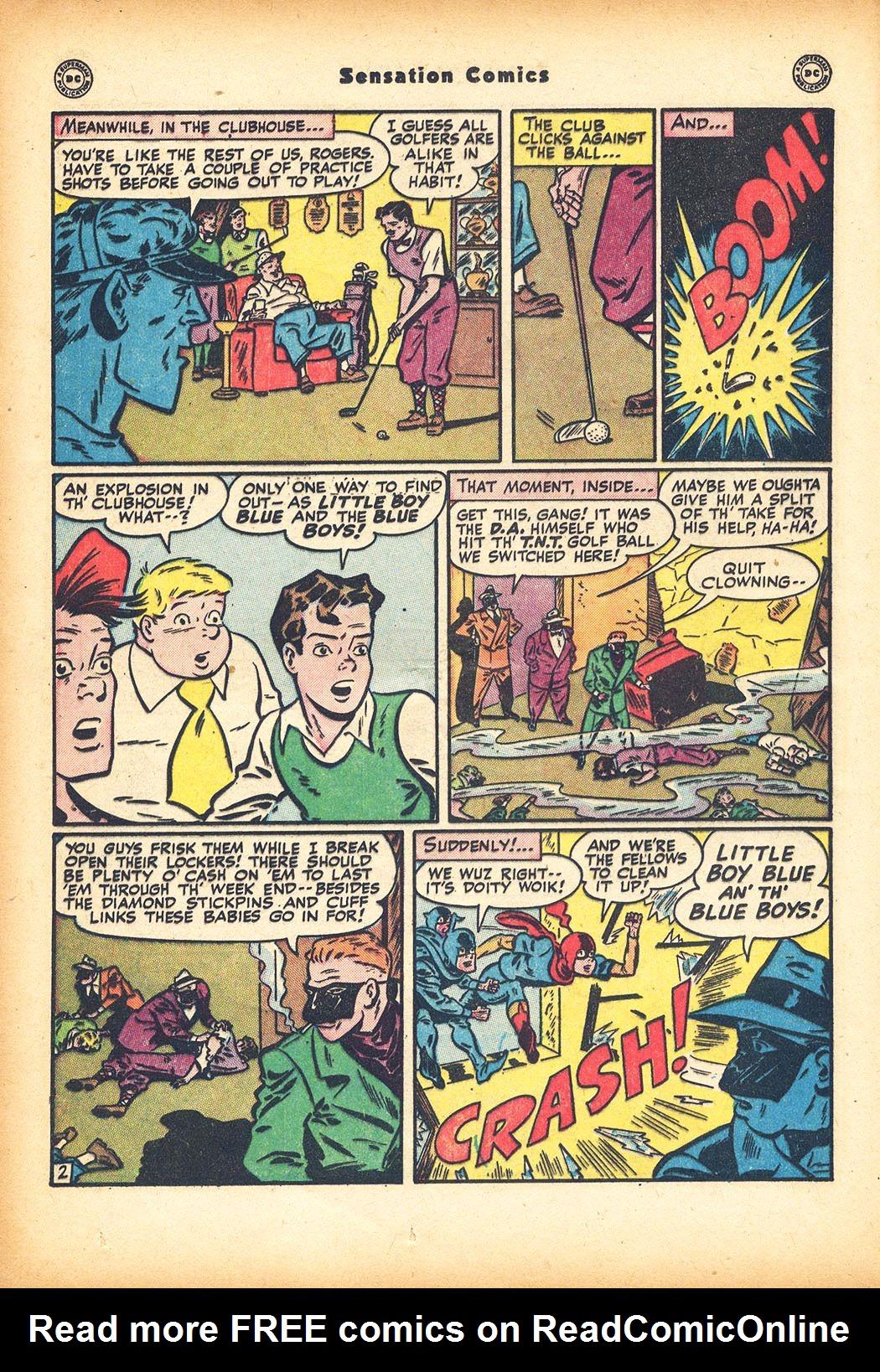 Read online Sensation (Mystery) Comics comic -  Issue #78 - 18