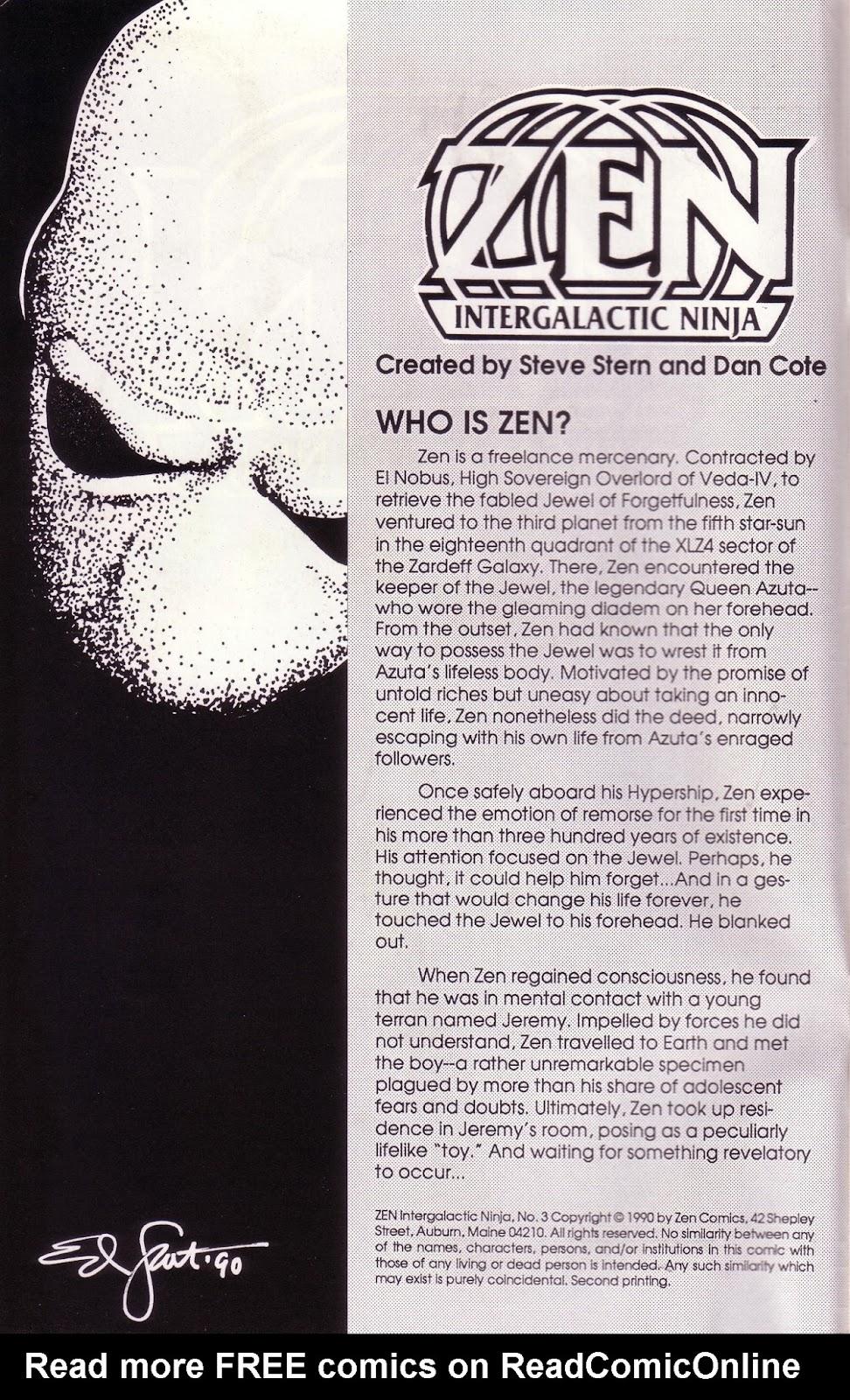 Zen Intergalactic Ninja (1989) 3 Page 2