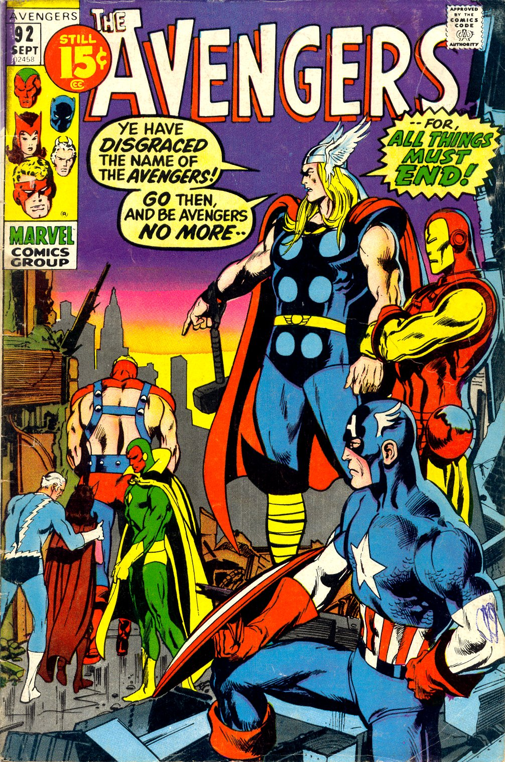 The Avengers (1963) issue 92 - Page 1