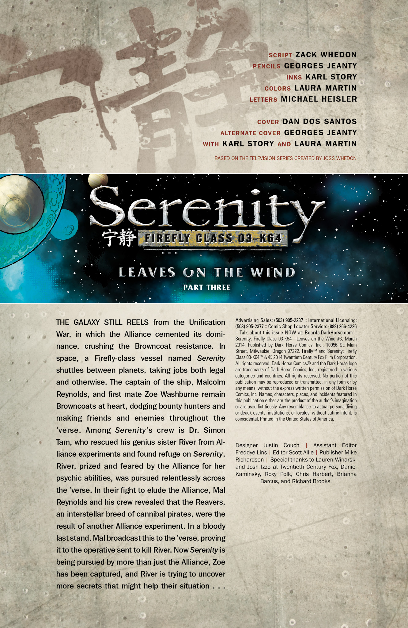 Read online Serenity: Firefly Class 03-K64  Leaves on the Wind comic -  Issue #3 - 2