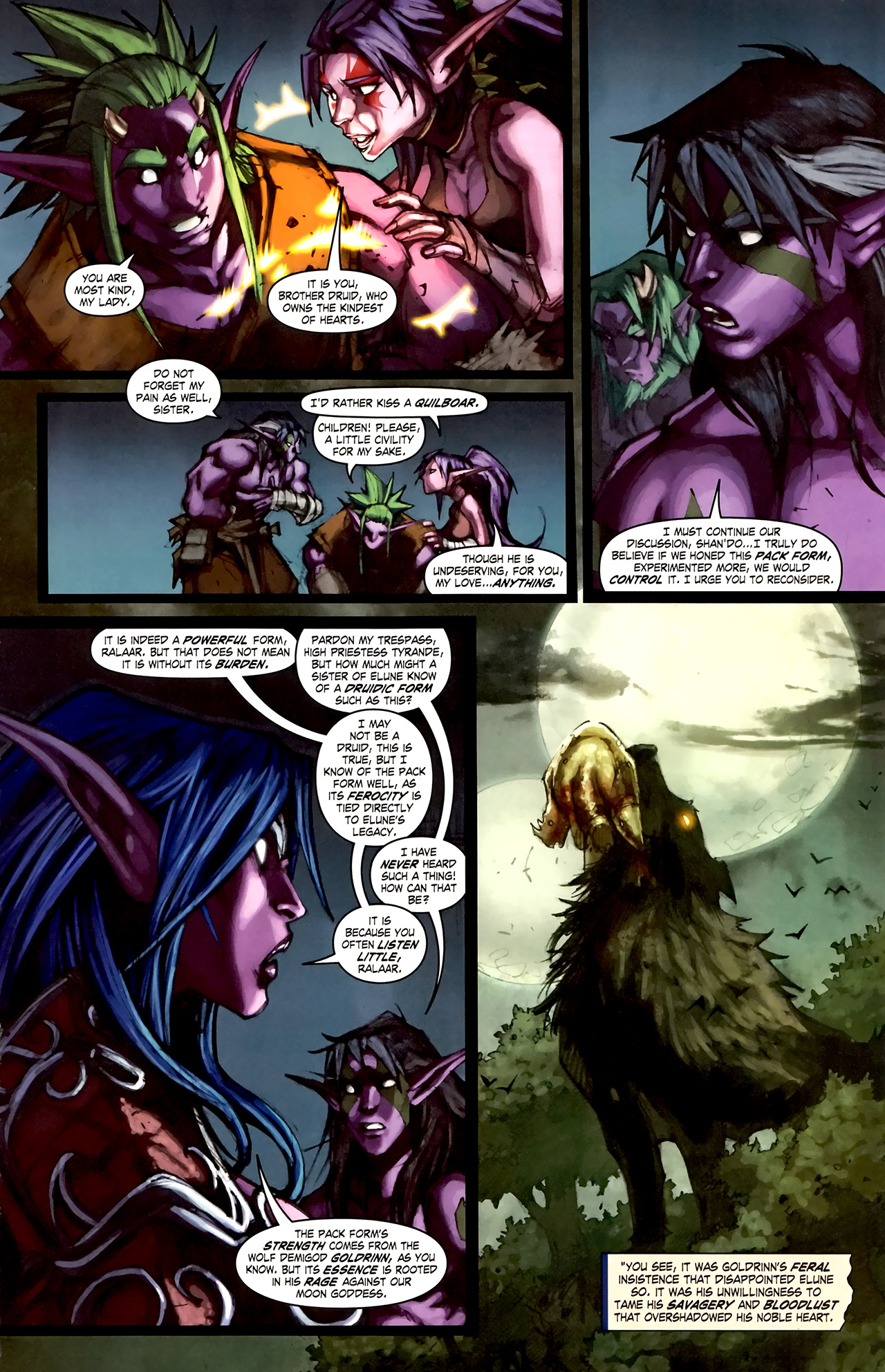 Read online World of Warcraft: Curse of the Worgen comic -  Issue #1 - 27