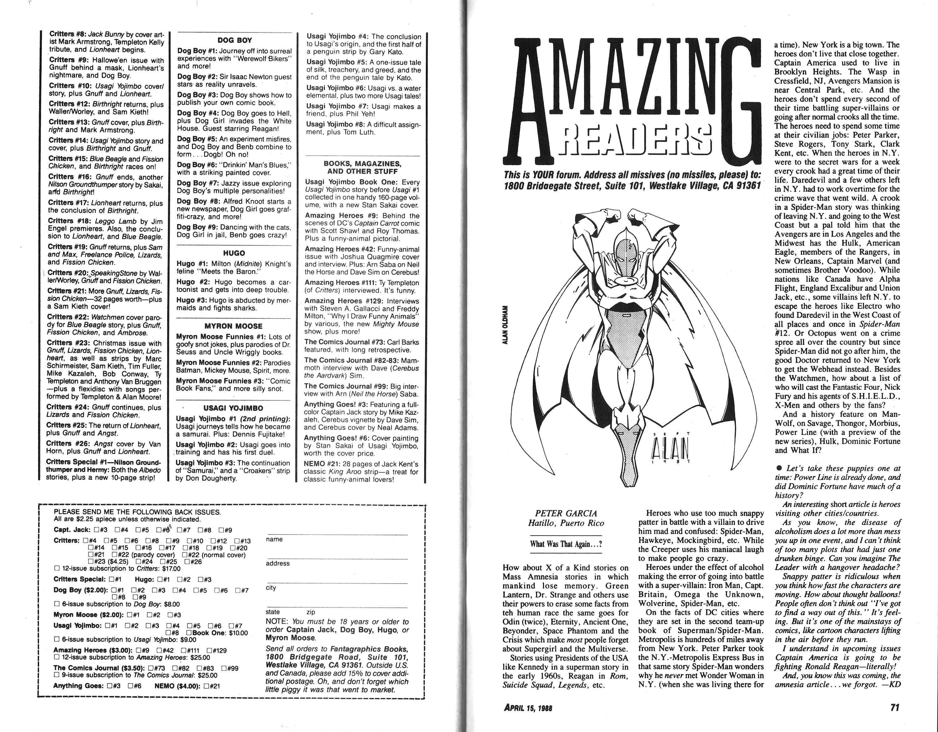 Read online Amazing Heroes comic -  Issue #139 - 37
