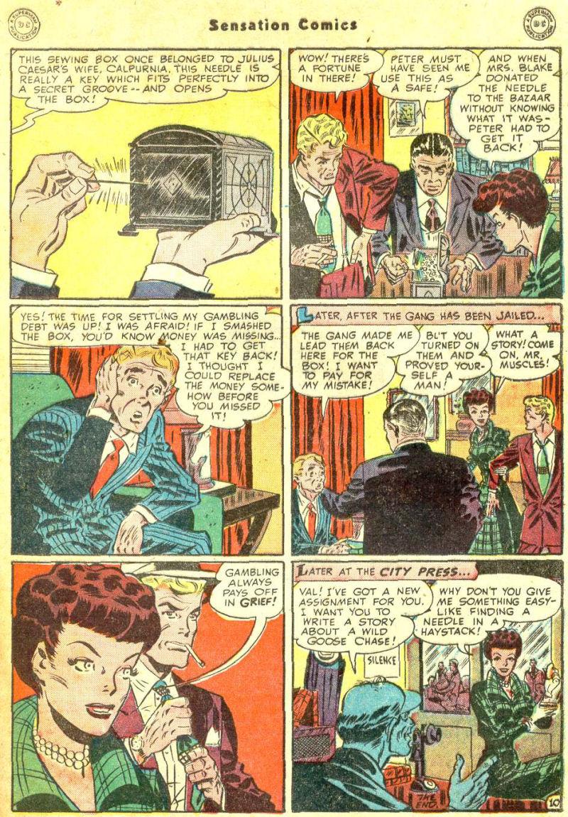 Read online Sensation (Mystery) Comics comic -  Issue #87 - 49