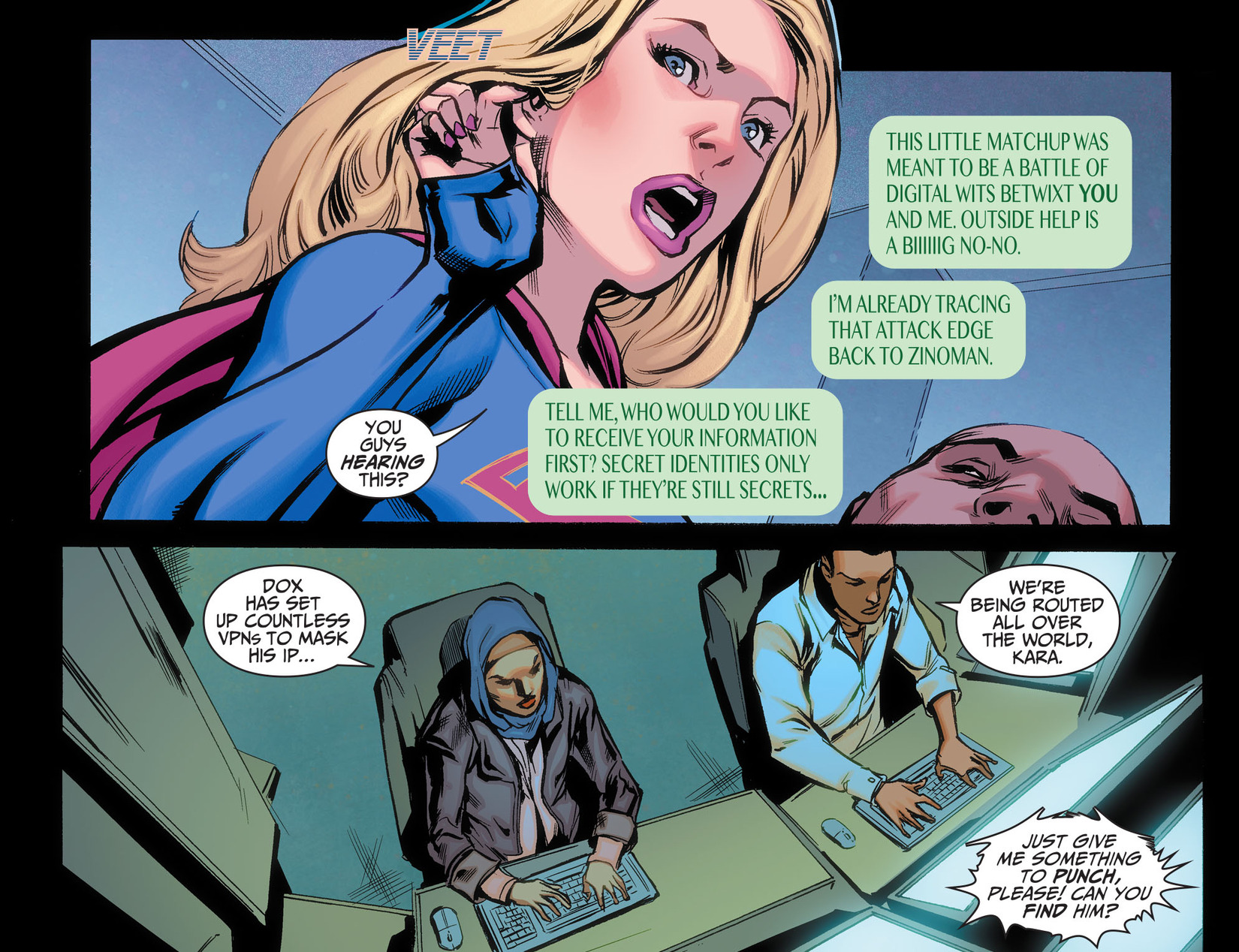 Read online Adventures of Supergirl comic -  Issue #5 - 16