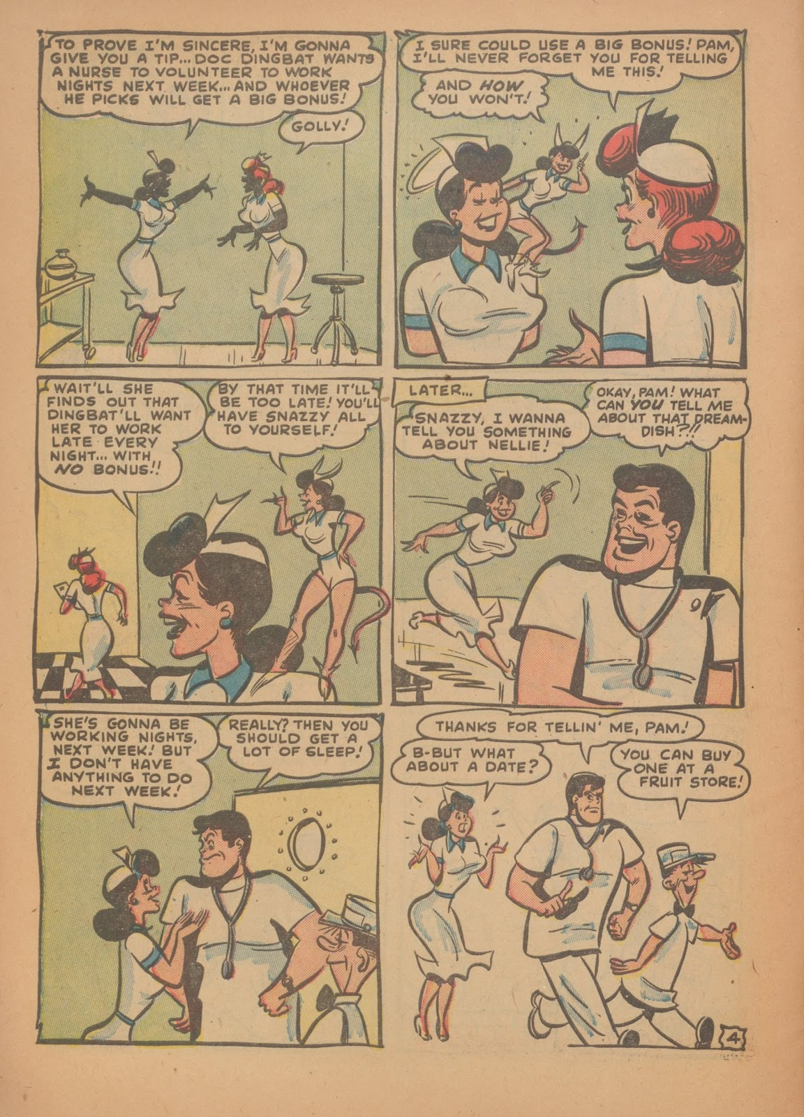 Read online Nellie The Nurse (1945) comic -  Issue #35 - 6