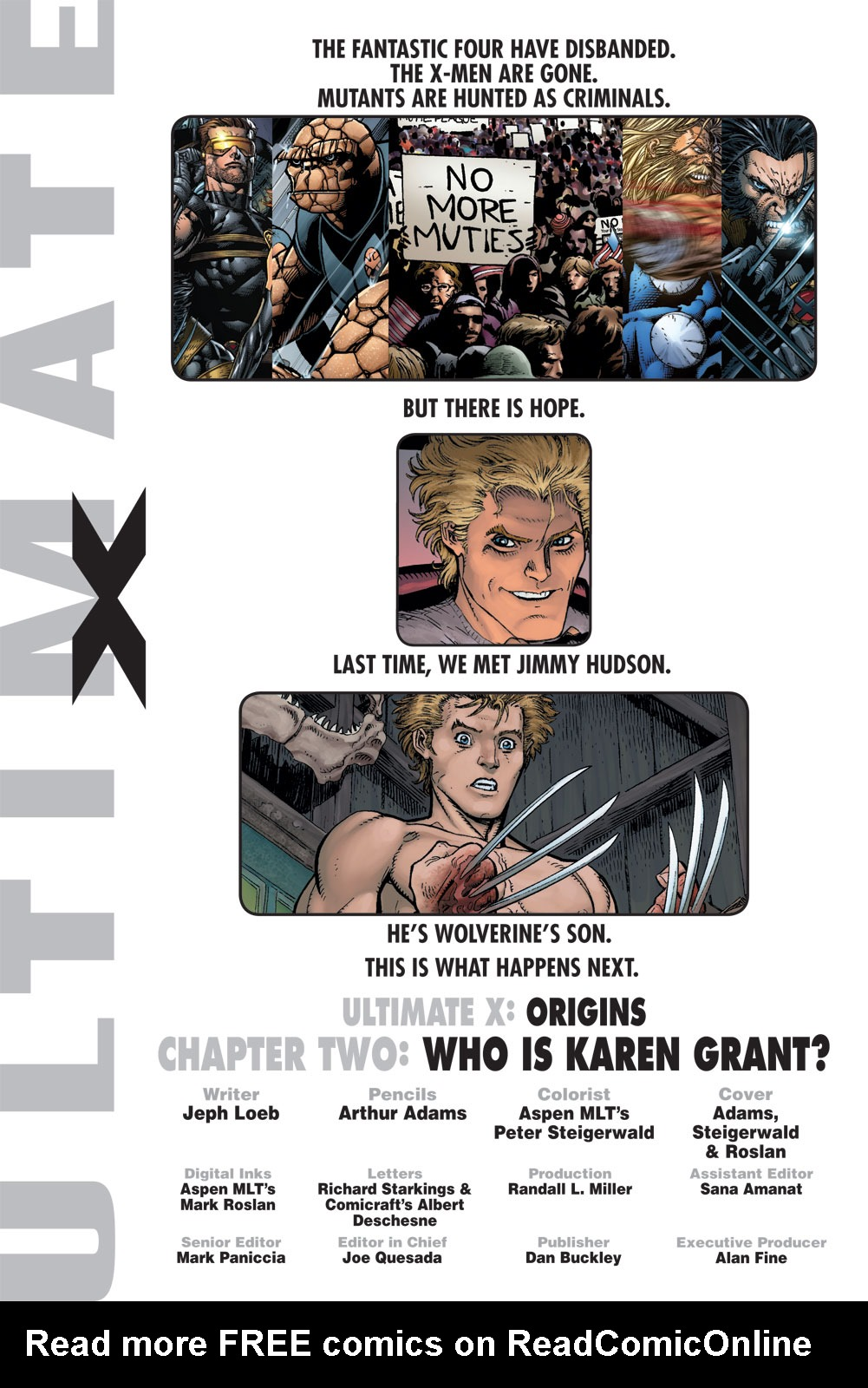 Read online Ultimate X comic -  Issue #2 - 2