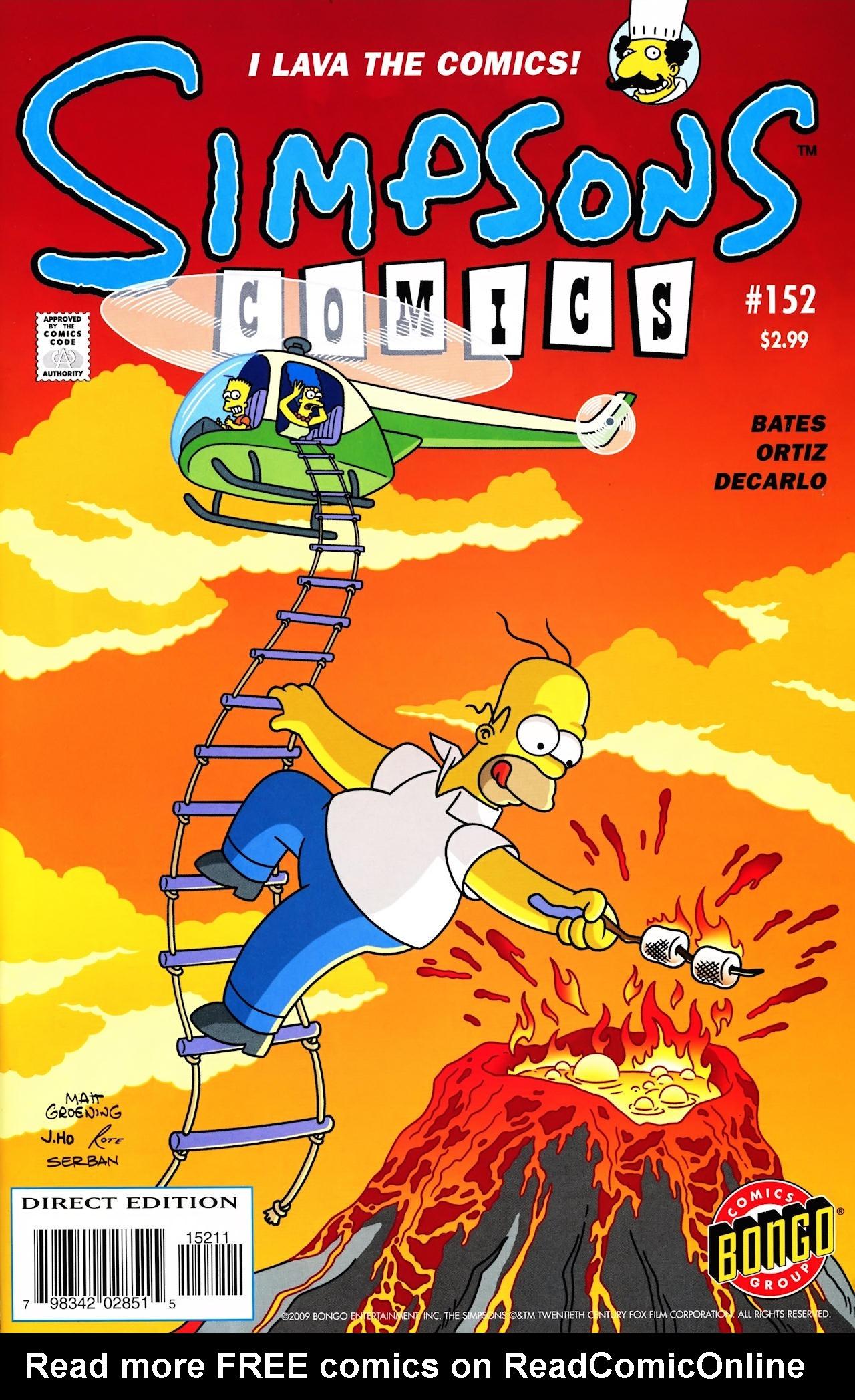 Read online Simpsons Comics comic -  Issue #152 - 1