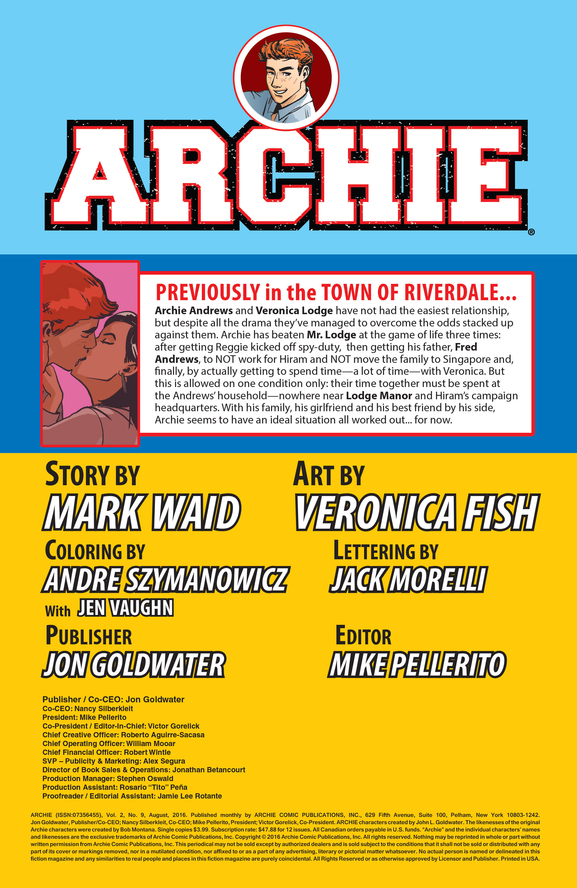 Read online Archie (2015) comic -  Issue #9 - 2