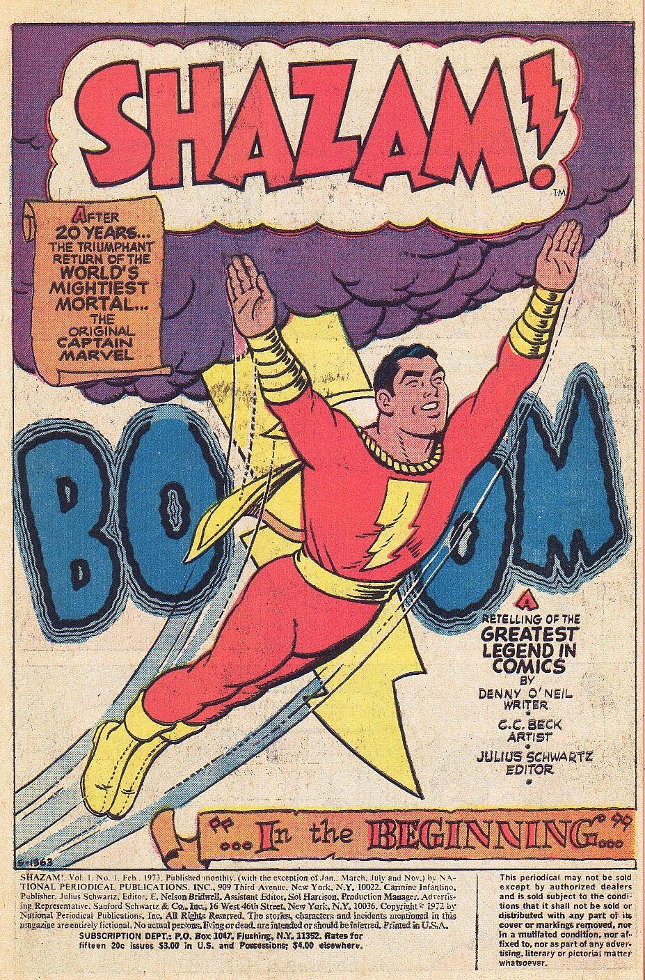 Read online Shazam! (1973) comic -  Issue #1 - 2