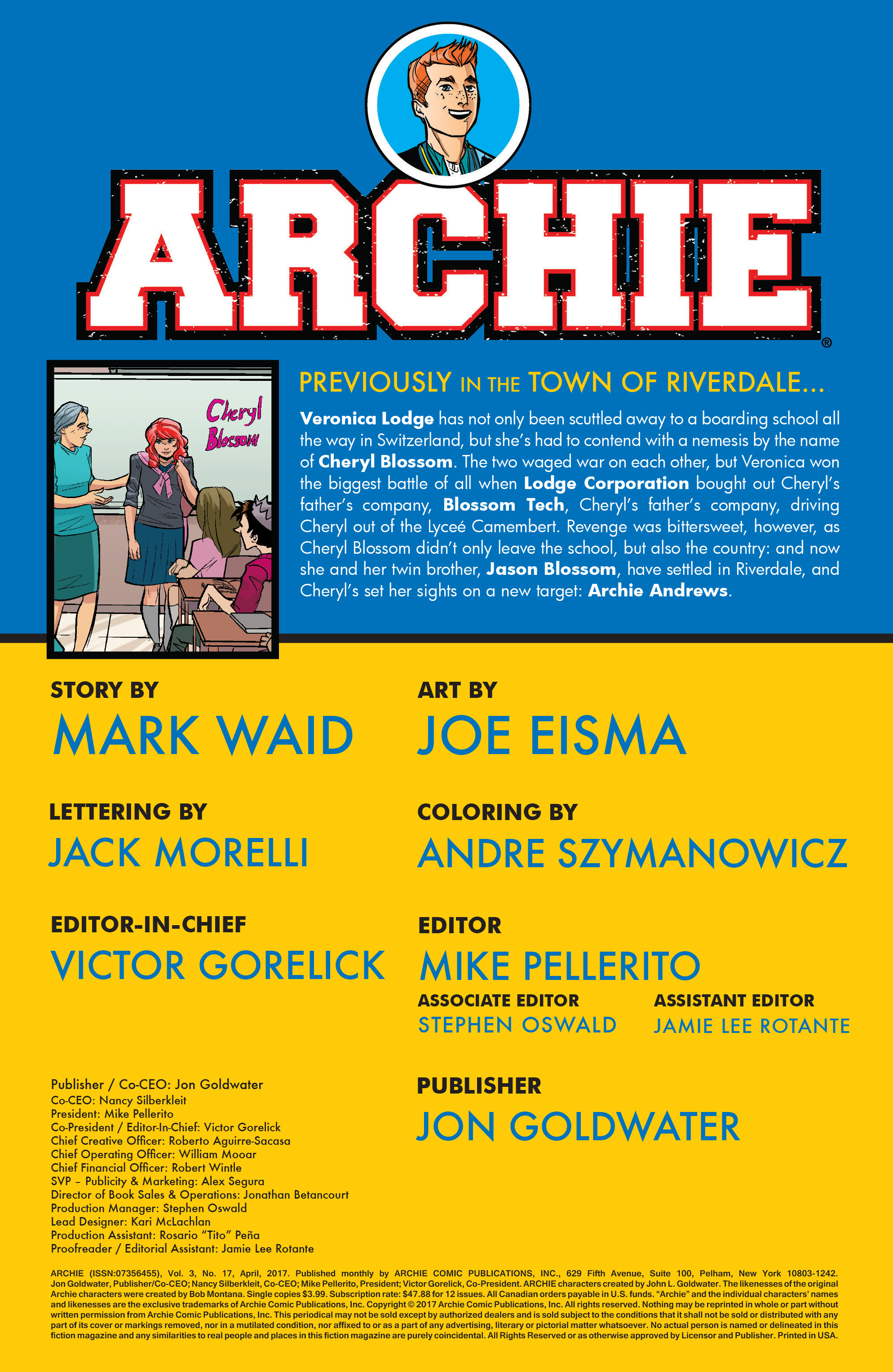 Read online Archie (2015) comic -  Issue #17 - 2
