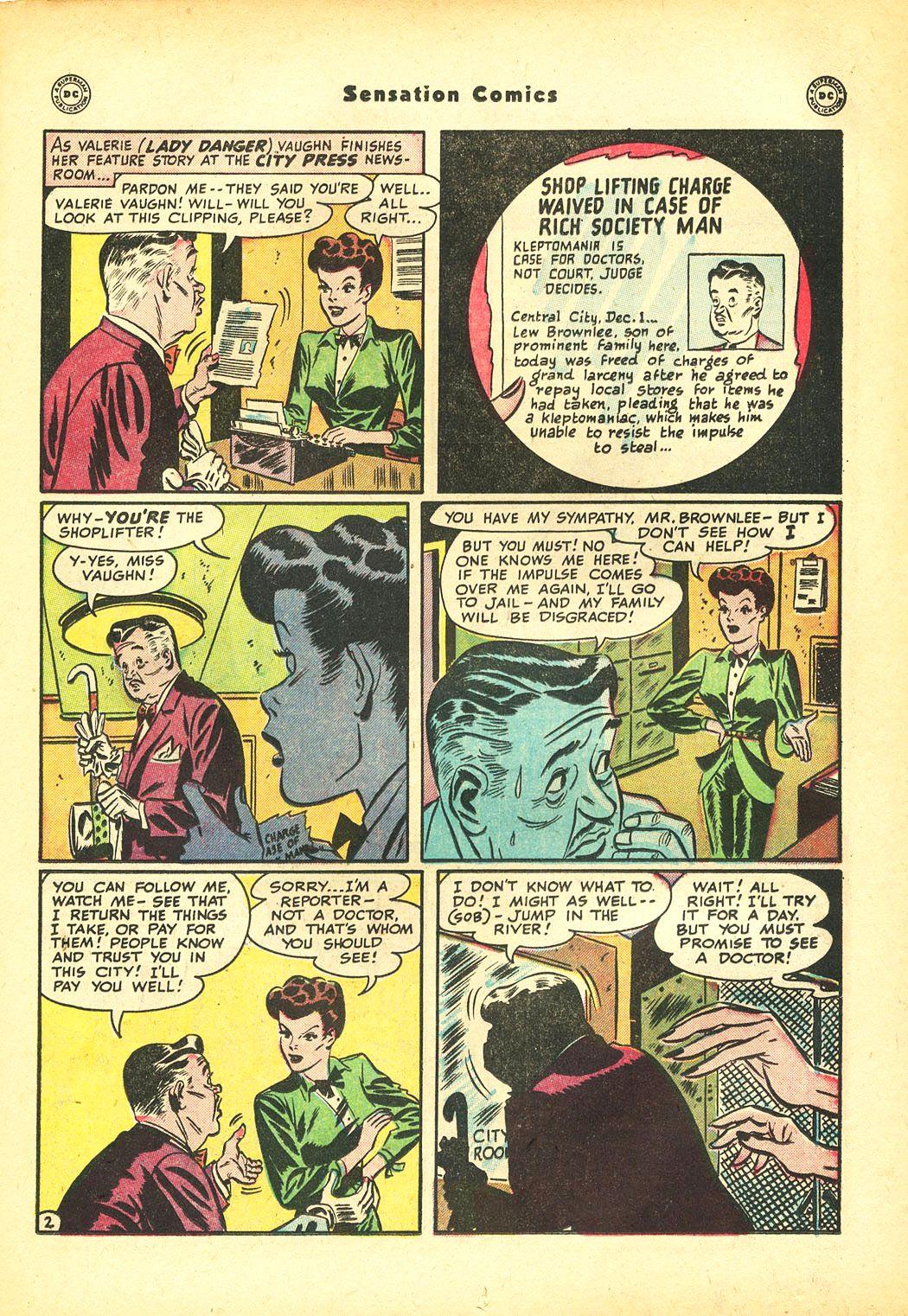Read online Sensation (Mystery) Comics comic -  Issue #86 - 17