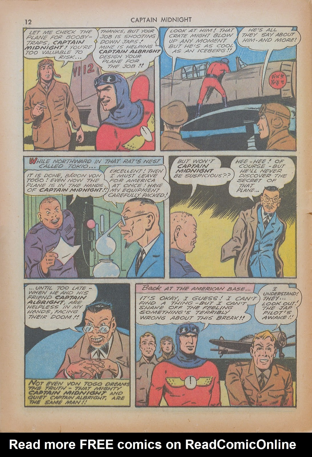 Captain Midnight (1942) issue 7 - Page 12