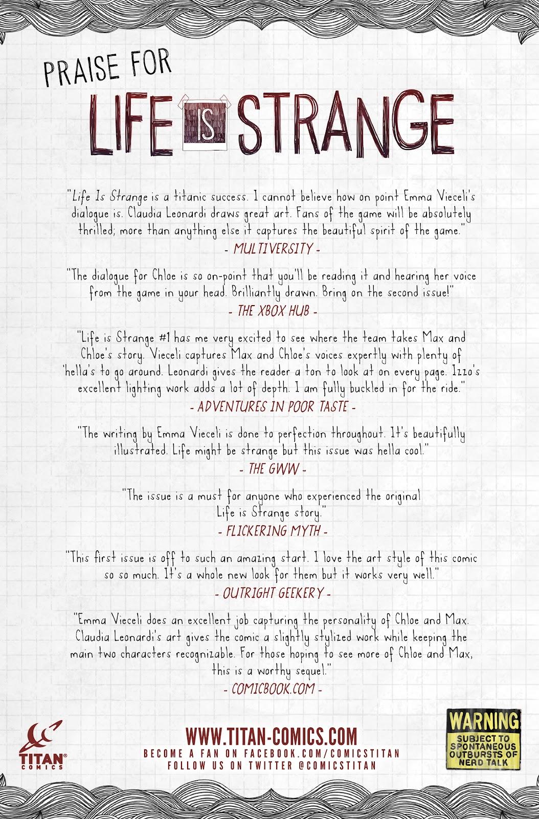 Read online Life is Strange comic -  Issue #6 - 31