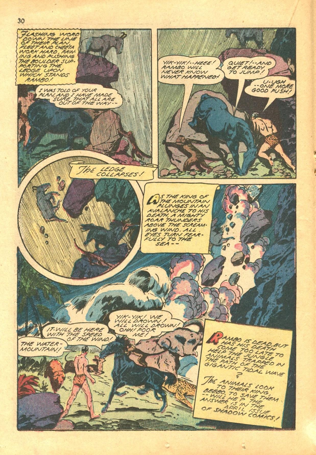Read online Shadow Comics comic -  Issue #24 - 30