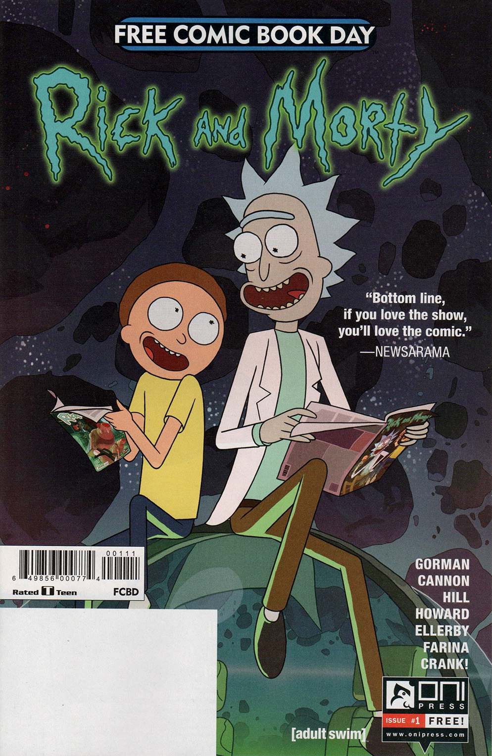 Read online Free Comic Book Day 2017 comic -  Issue # Rick and Morty - 1