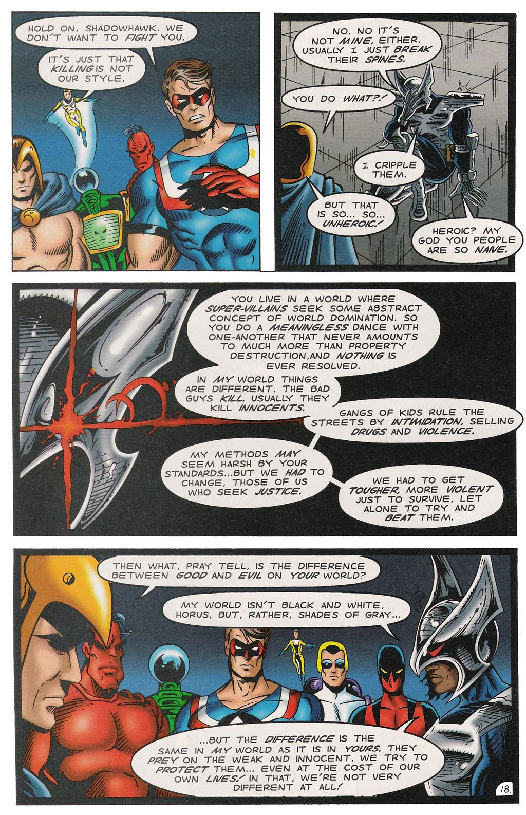 Read online ShadowHawk comic -  Issue #14 - 22