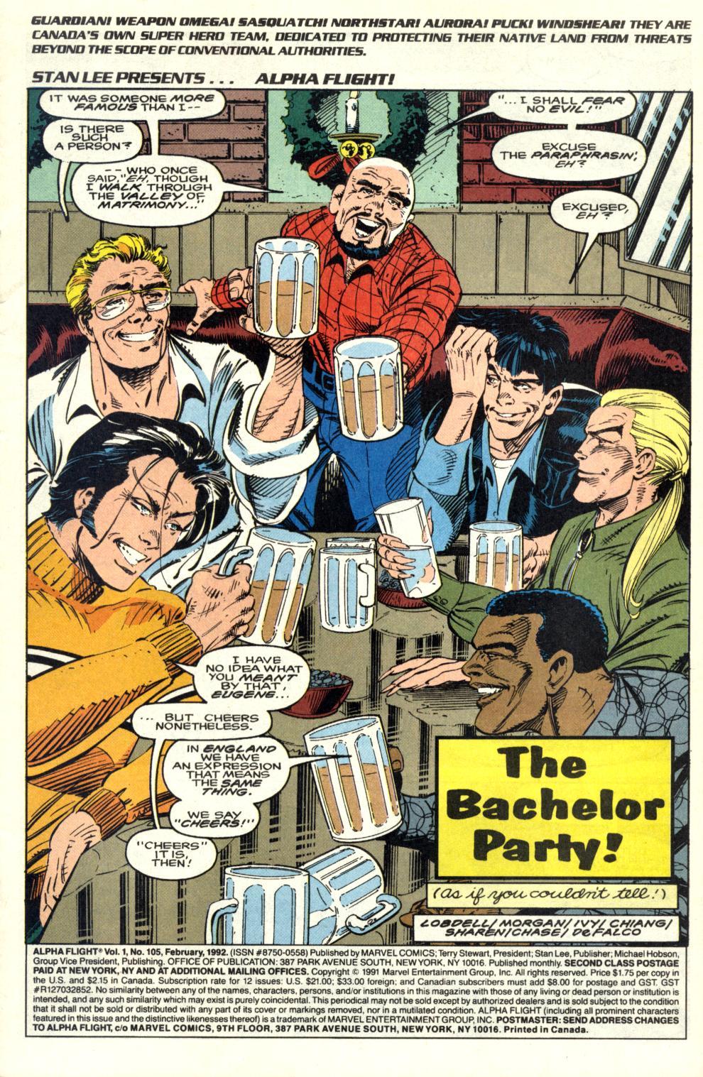 Read online Alpha Flight (1983) comic -  Issue #105 - 2