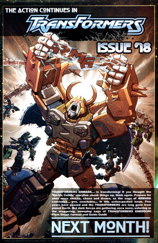 Read online Transformers Armada comic -  Issue #17 - 25
