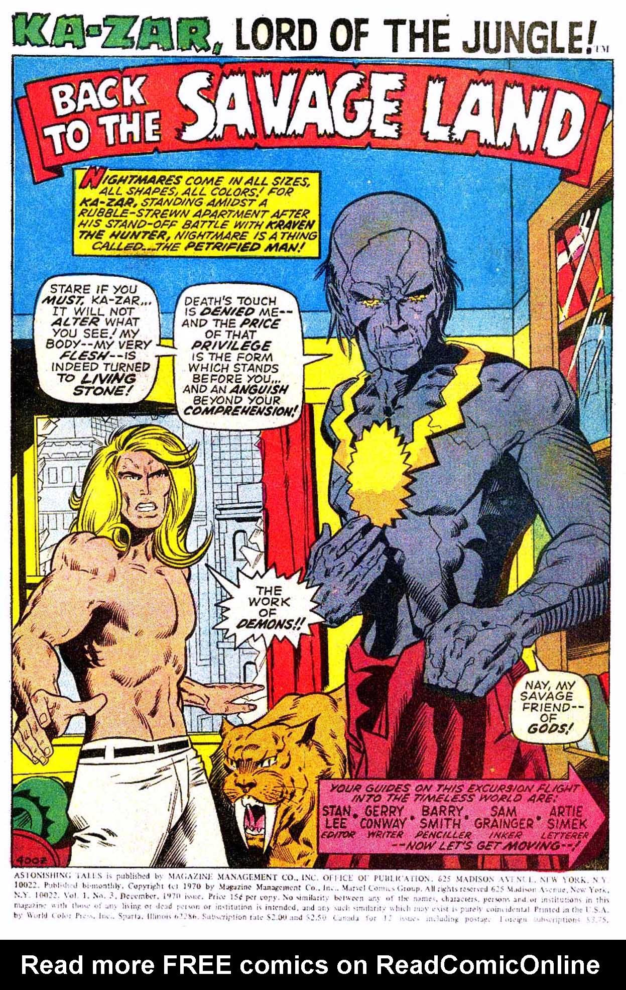 Read online Astonishing Tales (1970) comic -  Issue #3 - 12