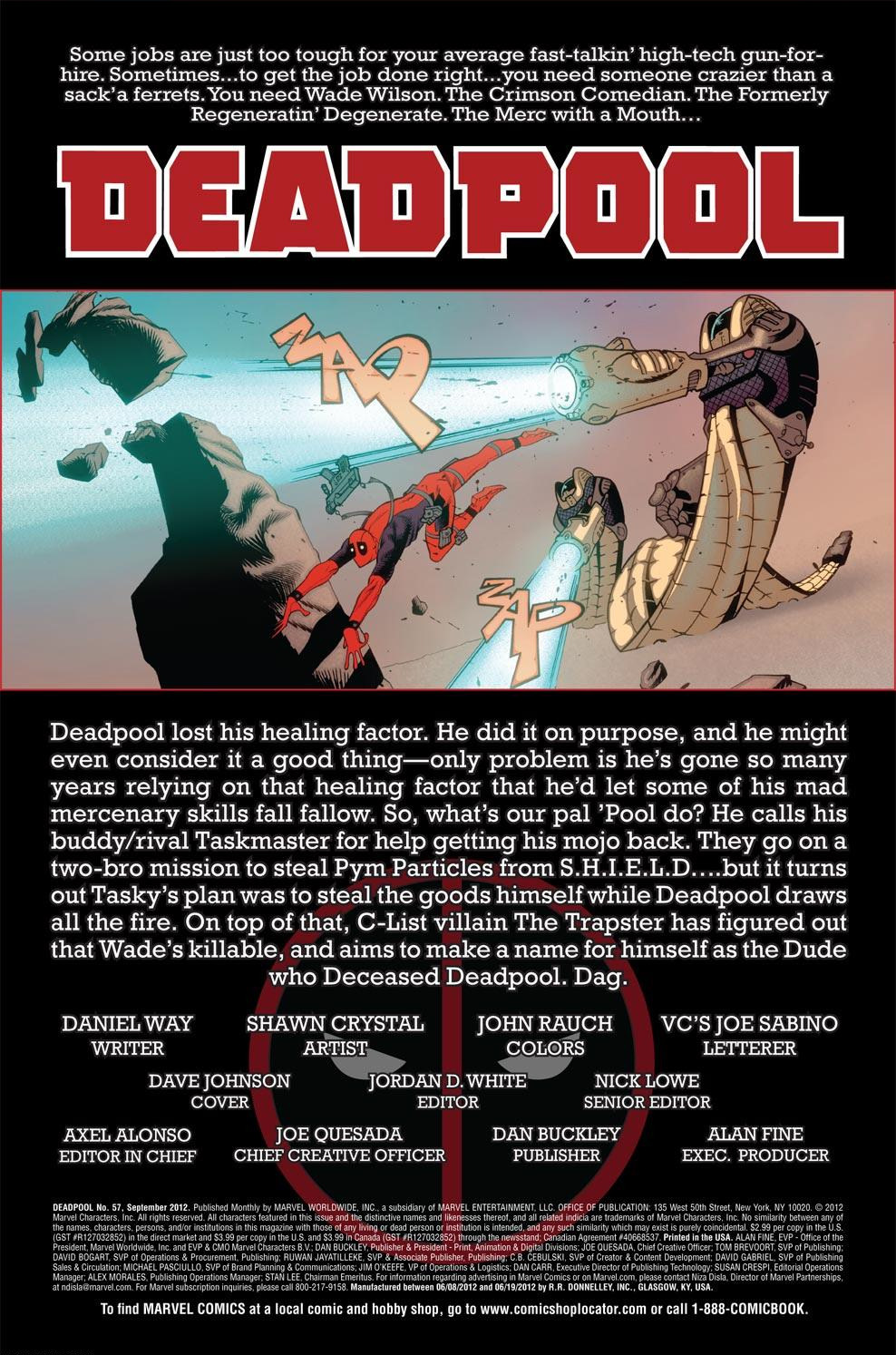 Read online Deadpool (2008) comic -  Issue #57 - 2