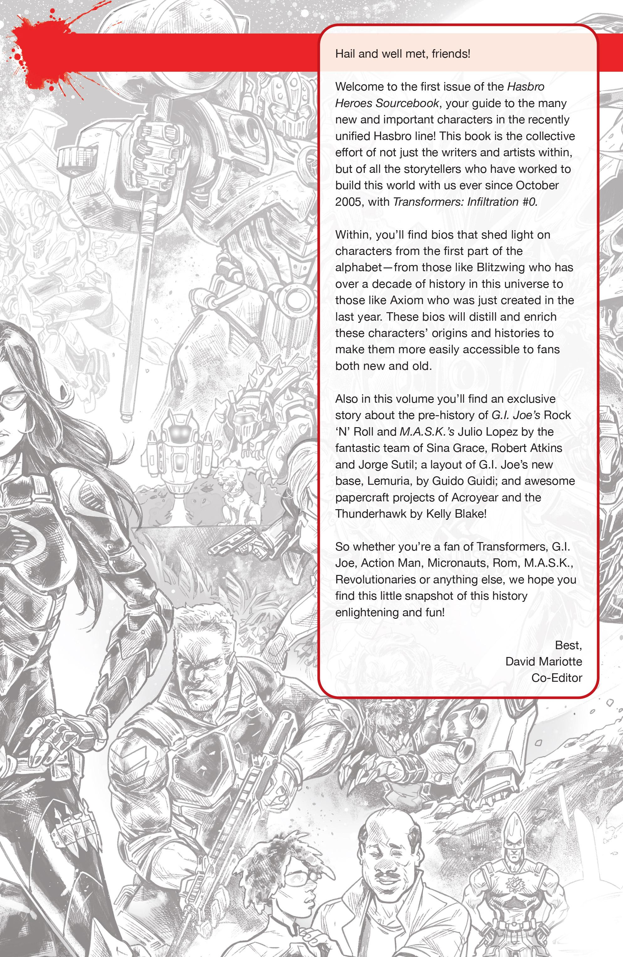 Read online Hasbro Heroes Sourcebook comic -  Issue #1 - 3