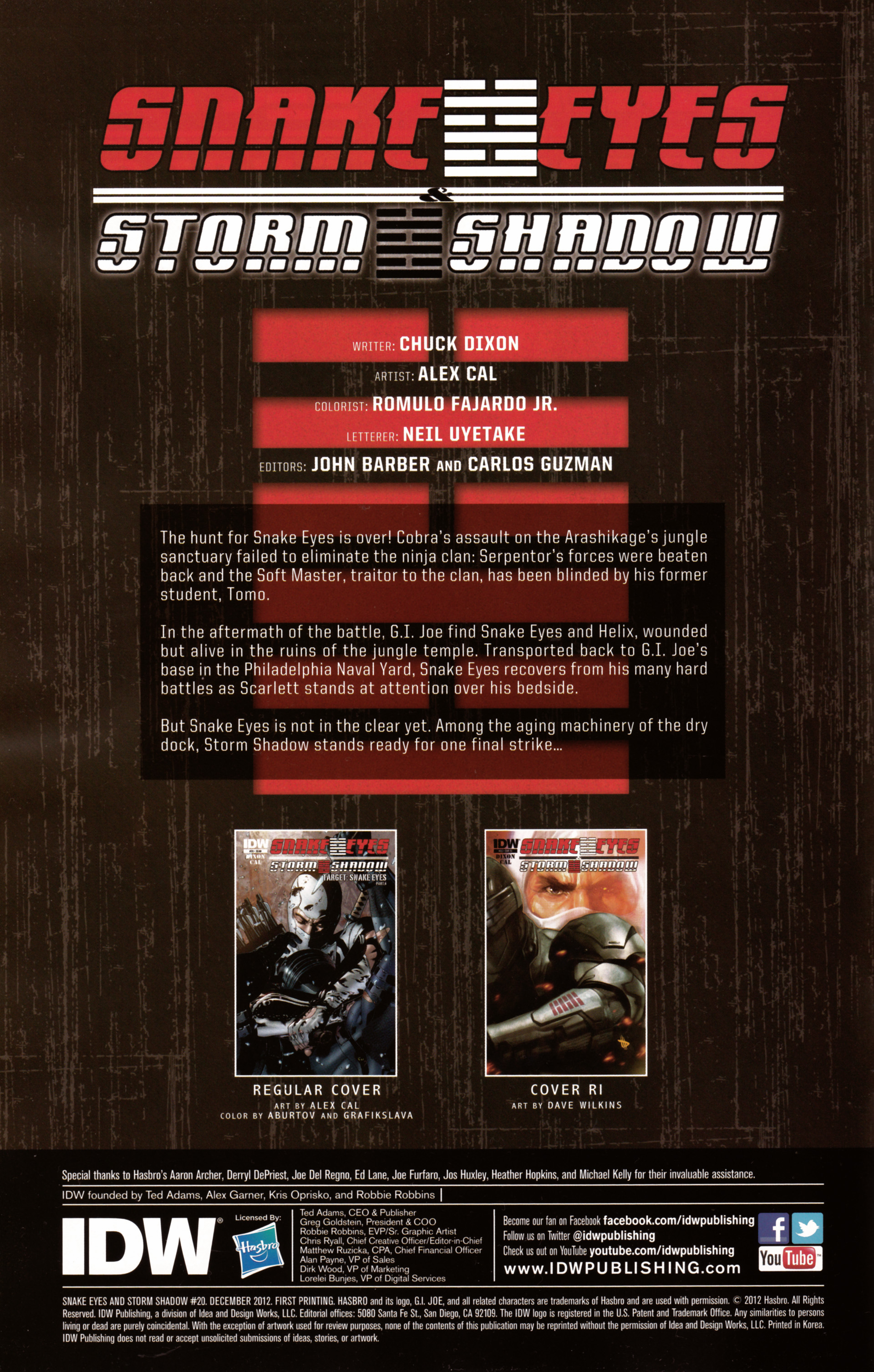 Read online Snake Eyes and Storm Shadow comic -  Issue #20 - 2