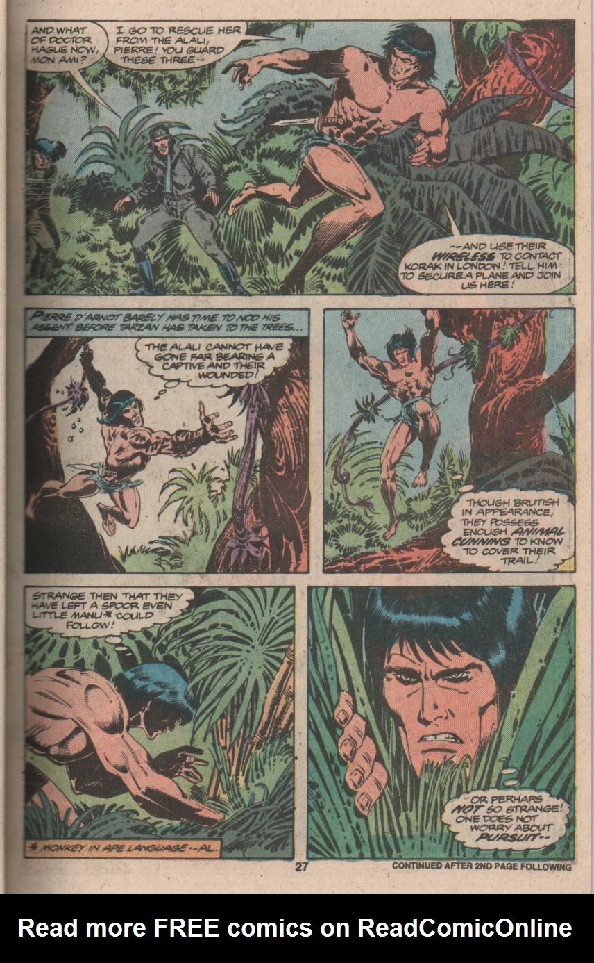 Read online Tarzan (1977) comic -  Issue # _Annual 3 - 22