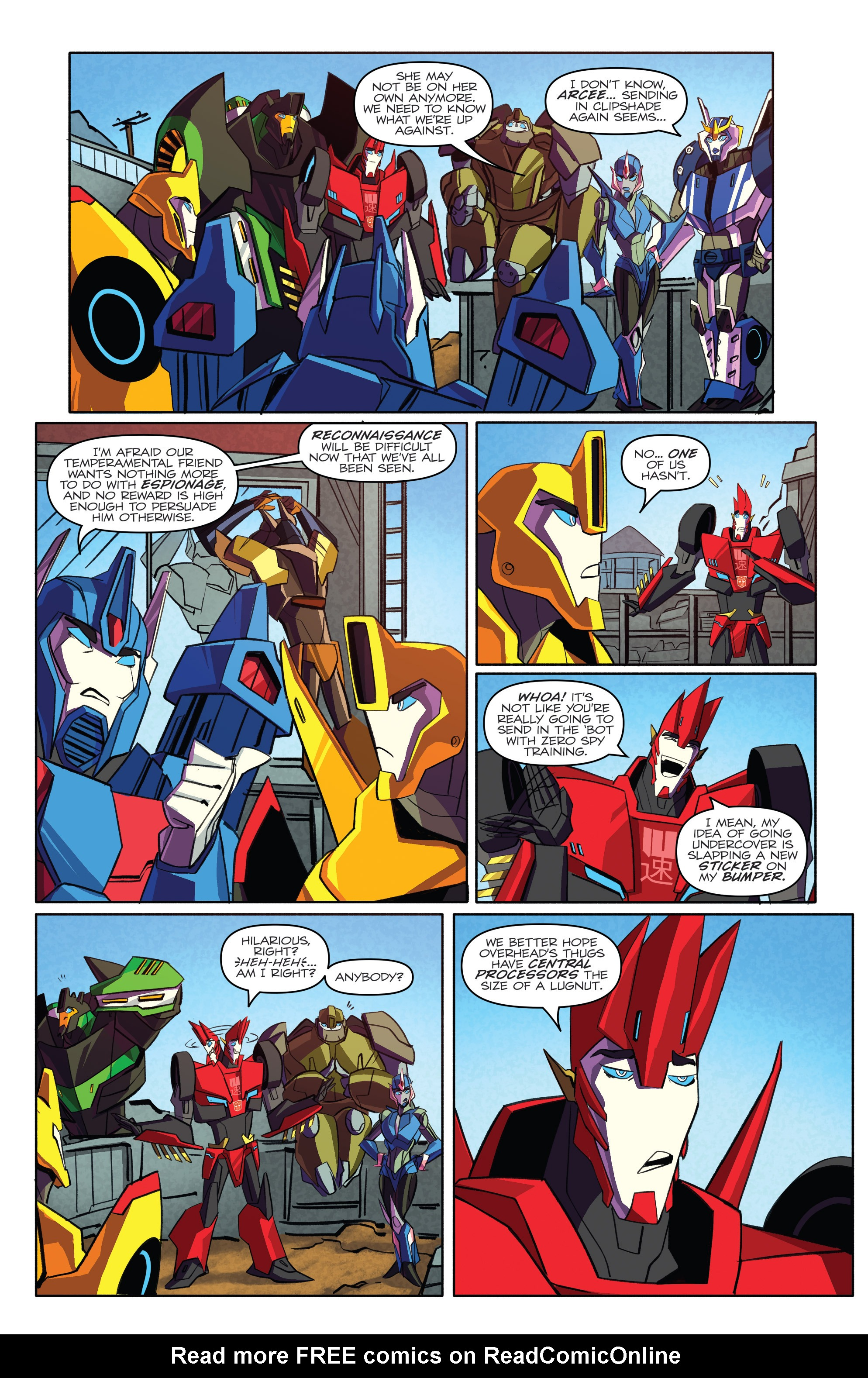 Read online Transformers: Robots In Disguise (2015) comic -  Issue #4 - 8