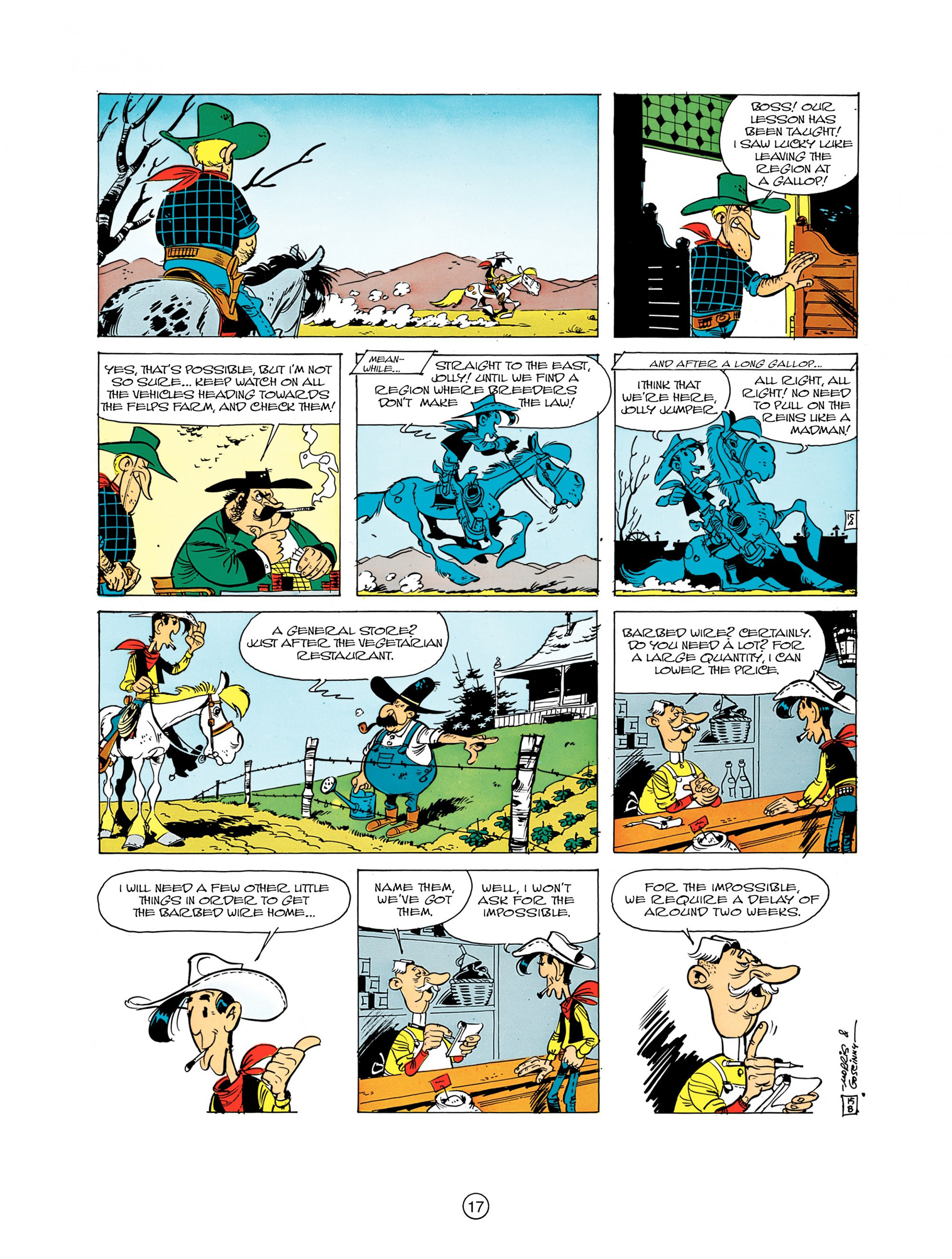 Read online A Lucky Luke Adventure comic -  Issue #7 - 17