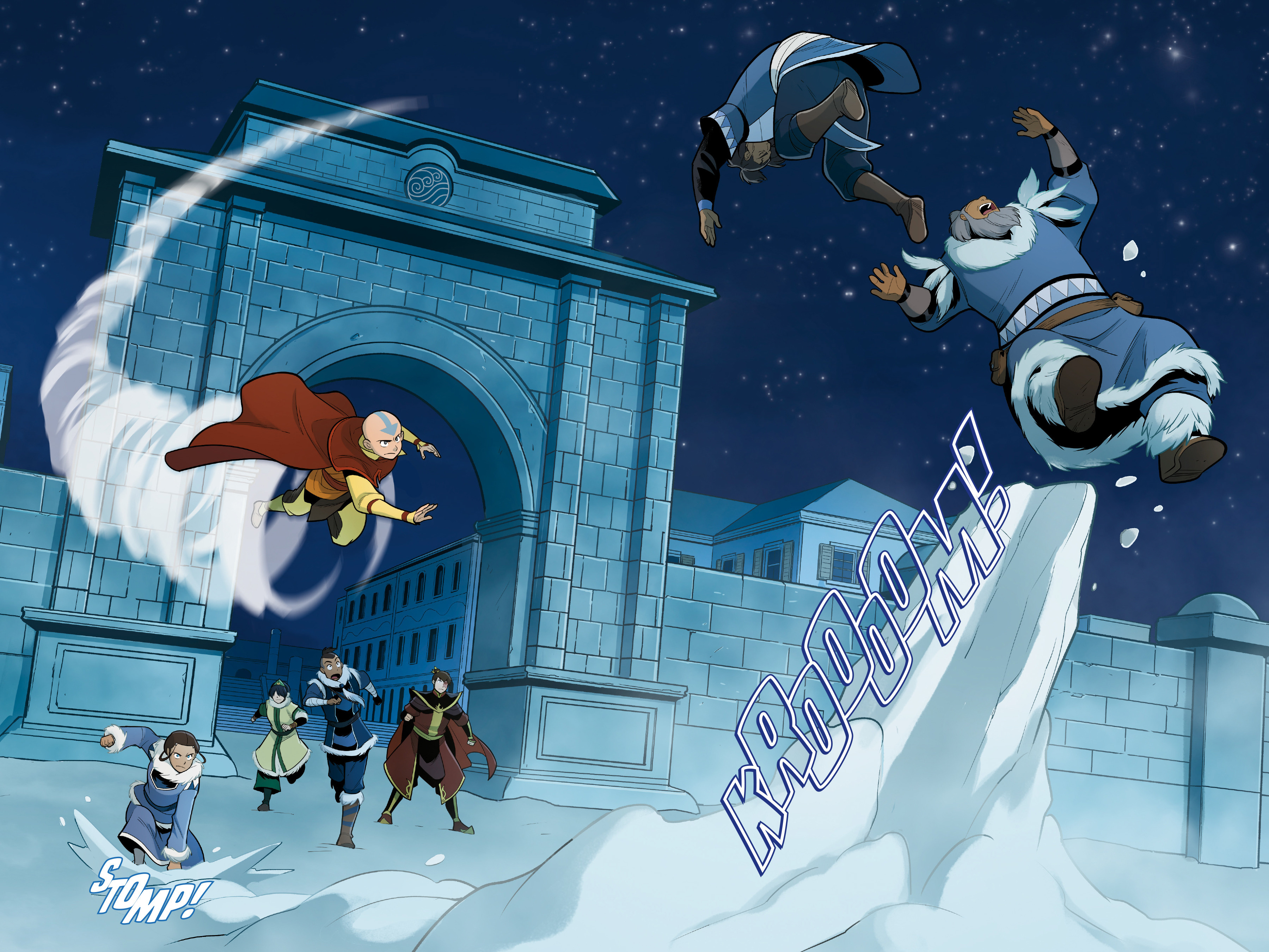 Read online Nickelodeon Avatar: The Last Airbender - North and South comic -  Issue #3 - 37