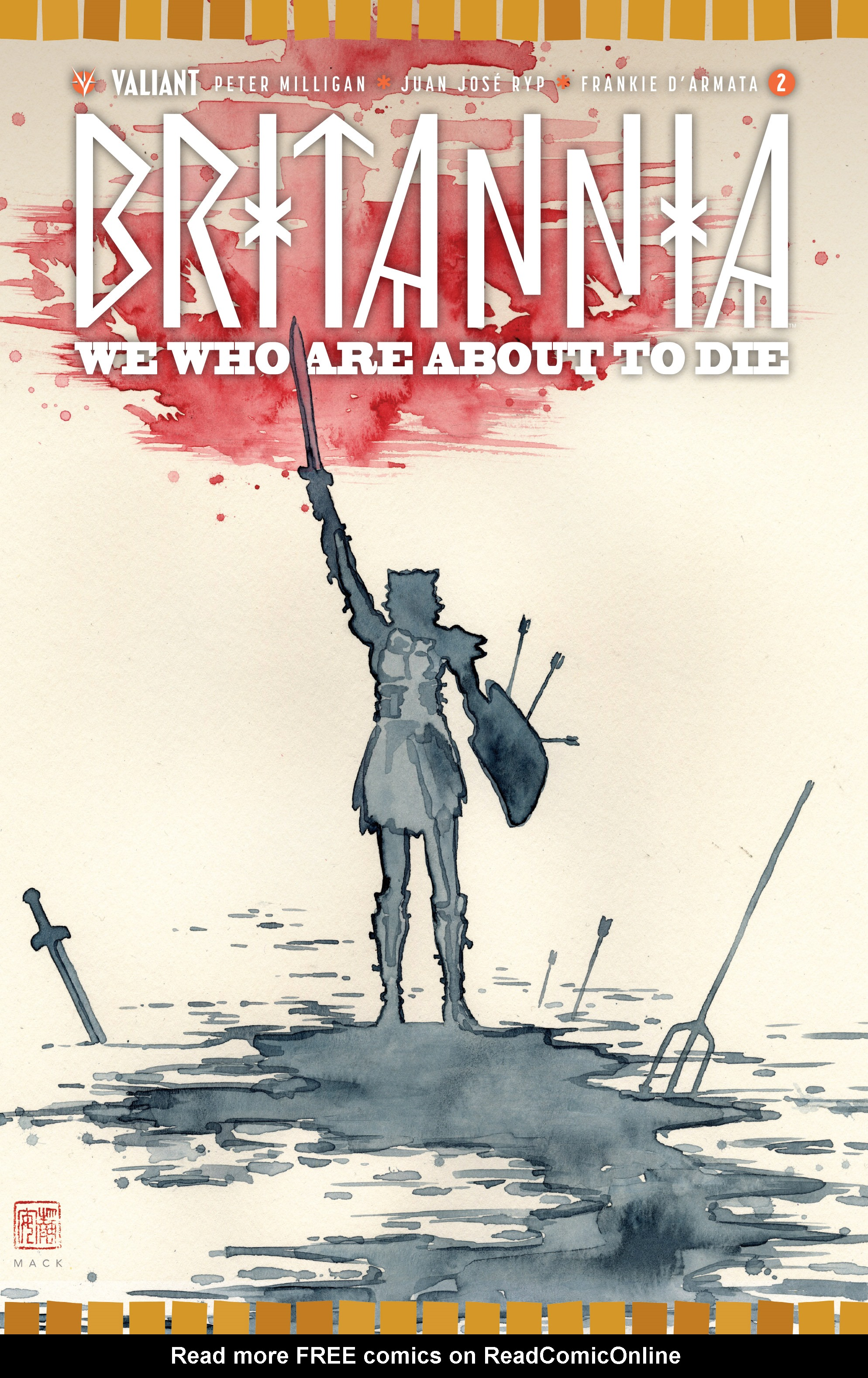 Read online Britannia: We Who Are About To Die comic -  Issue #2 - 1