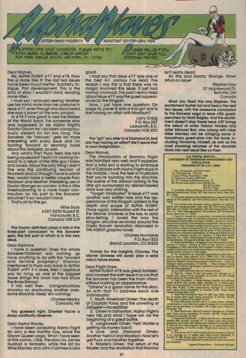 Read online Alpha Flight (1983) comic -  Issue #84 - 24