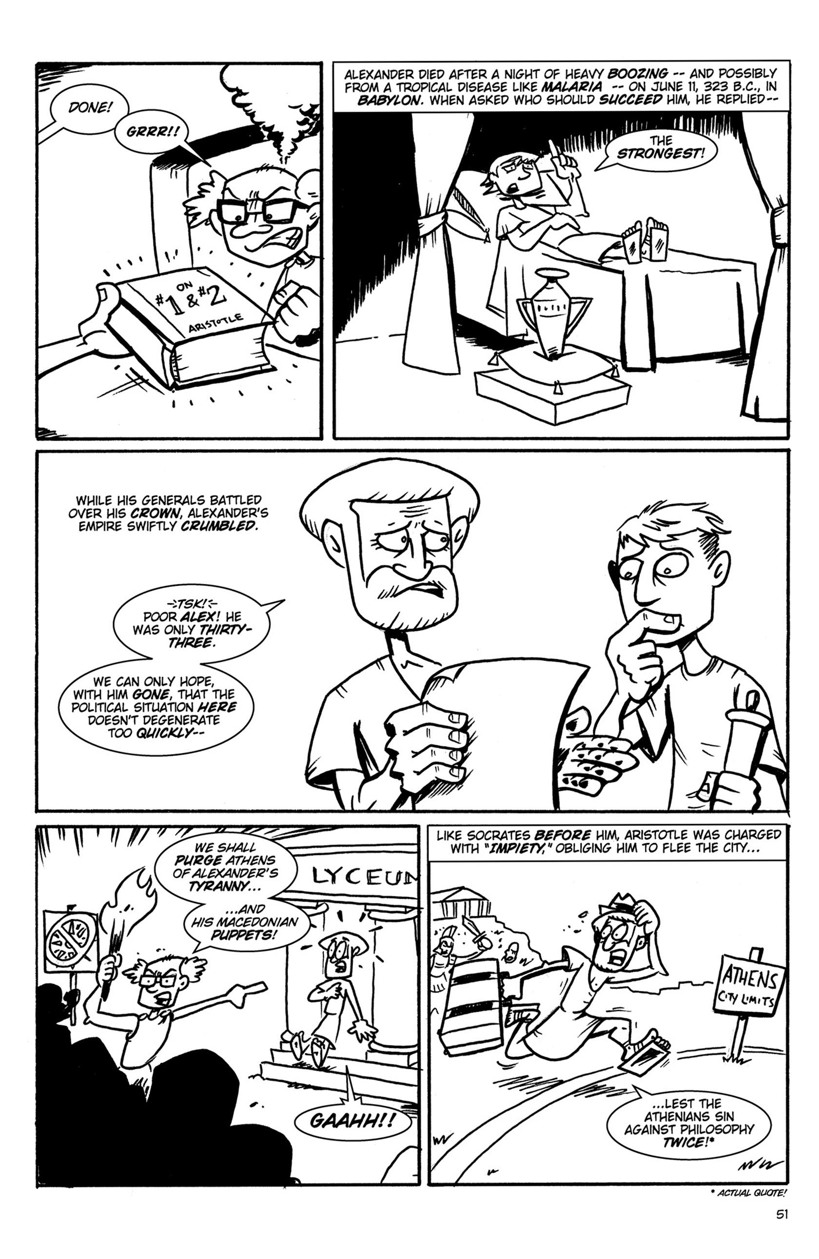 Read online Action Philosophers! comic -  Issue #Action Philosophers! TPB (Part 1) - 51