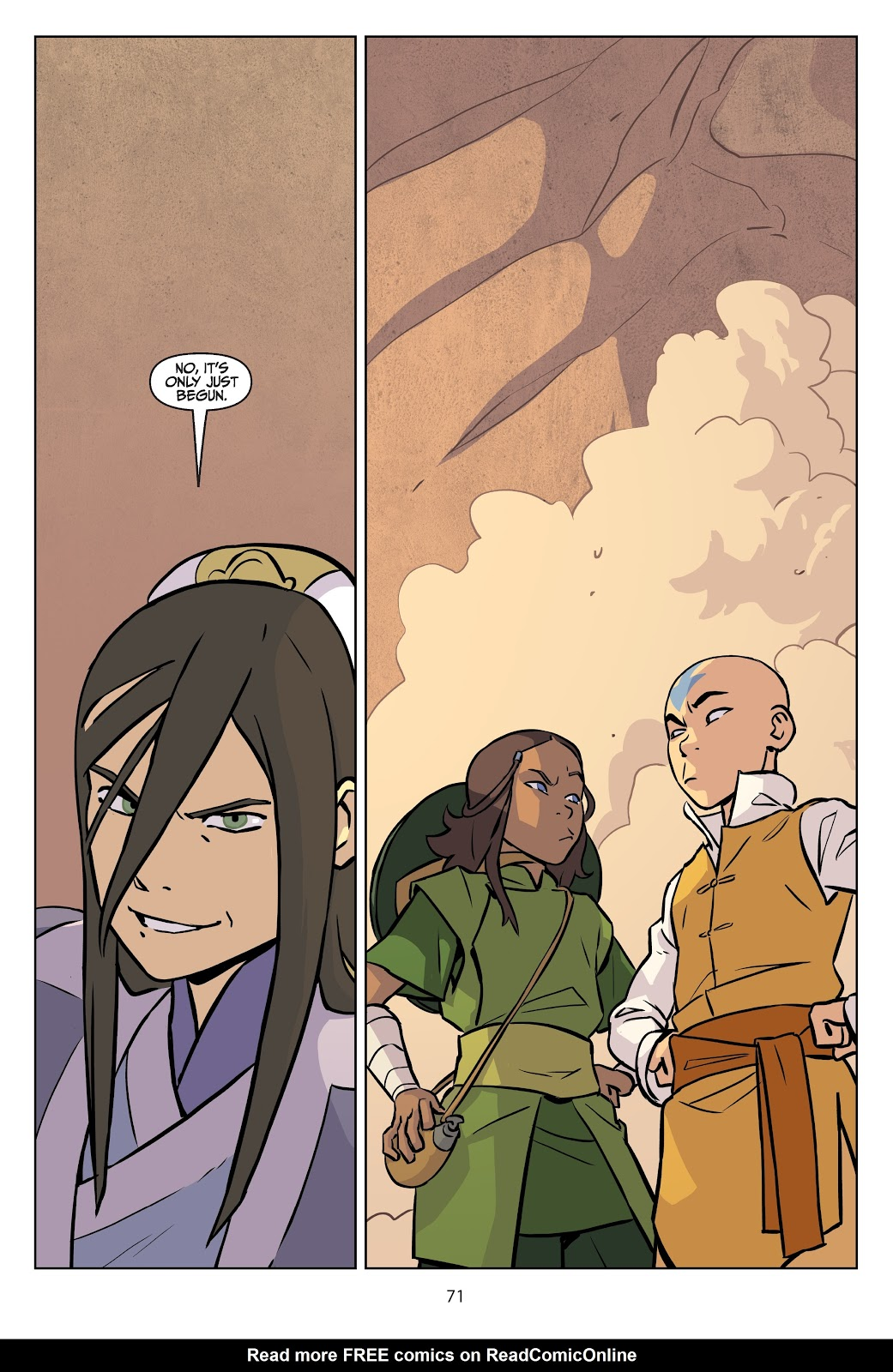 Read online Nickelodeon Avatar: The Last Airbender - Imbalance comic -  Issue # TPB 2 - 72