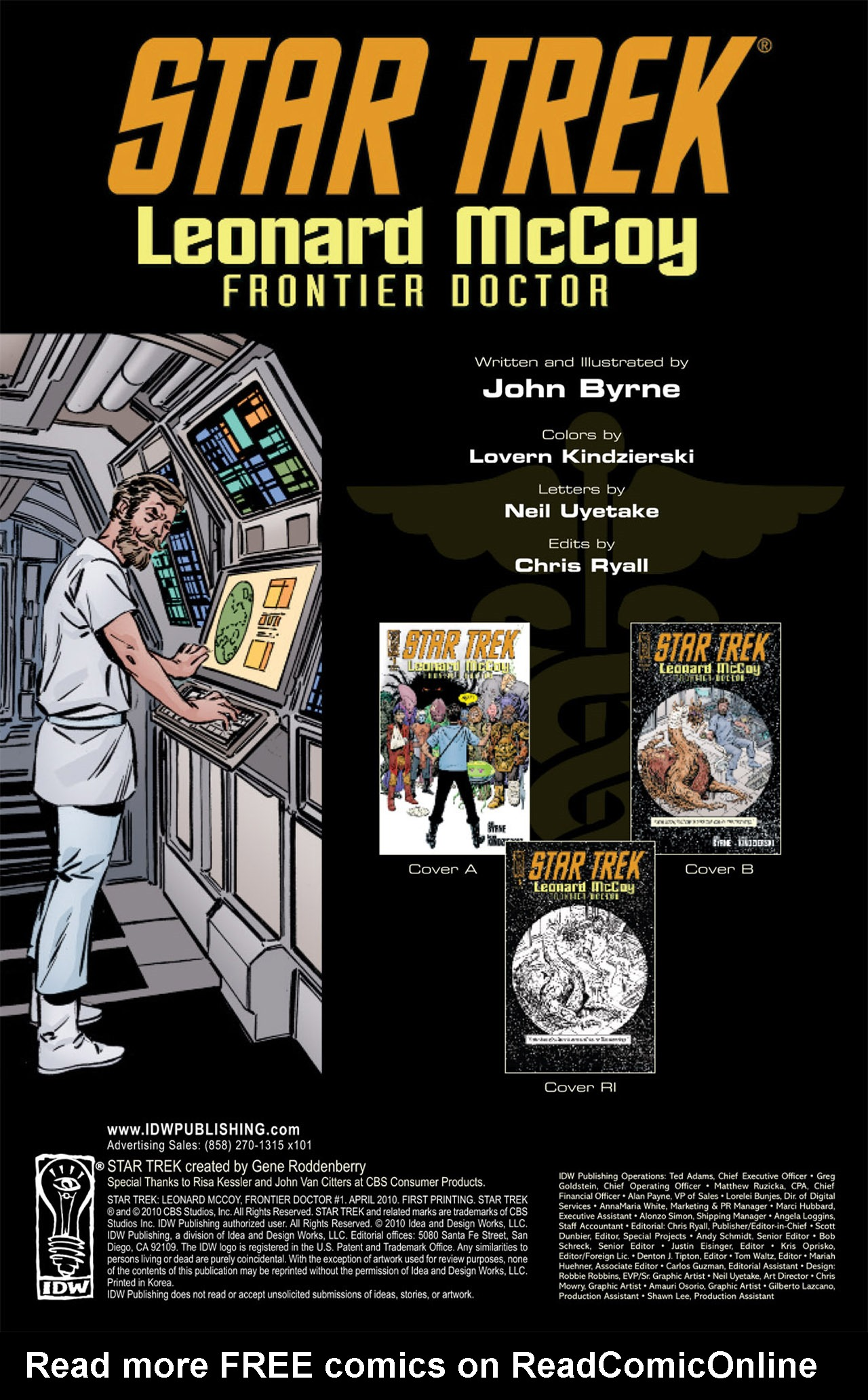 Read online Star Trek: Leonard McCoy, Frontier Doctor comic -  Issue #1 - 4