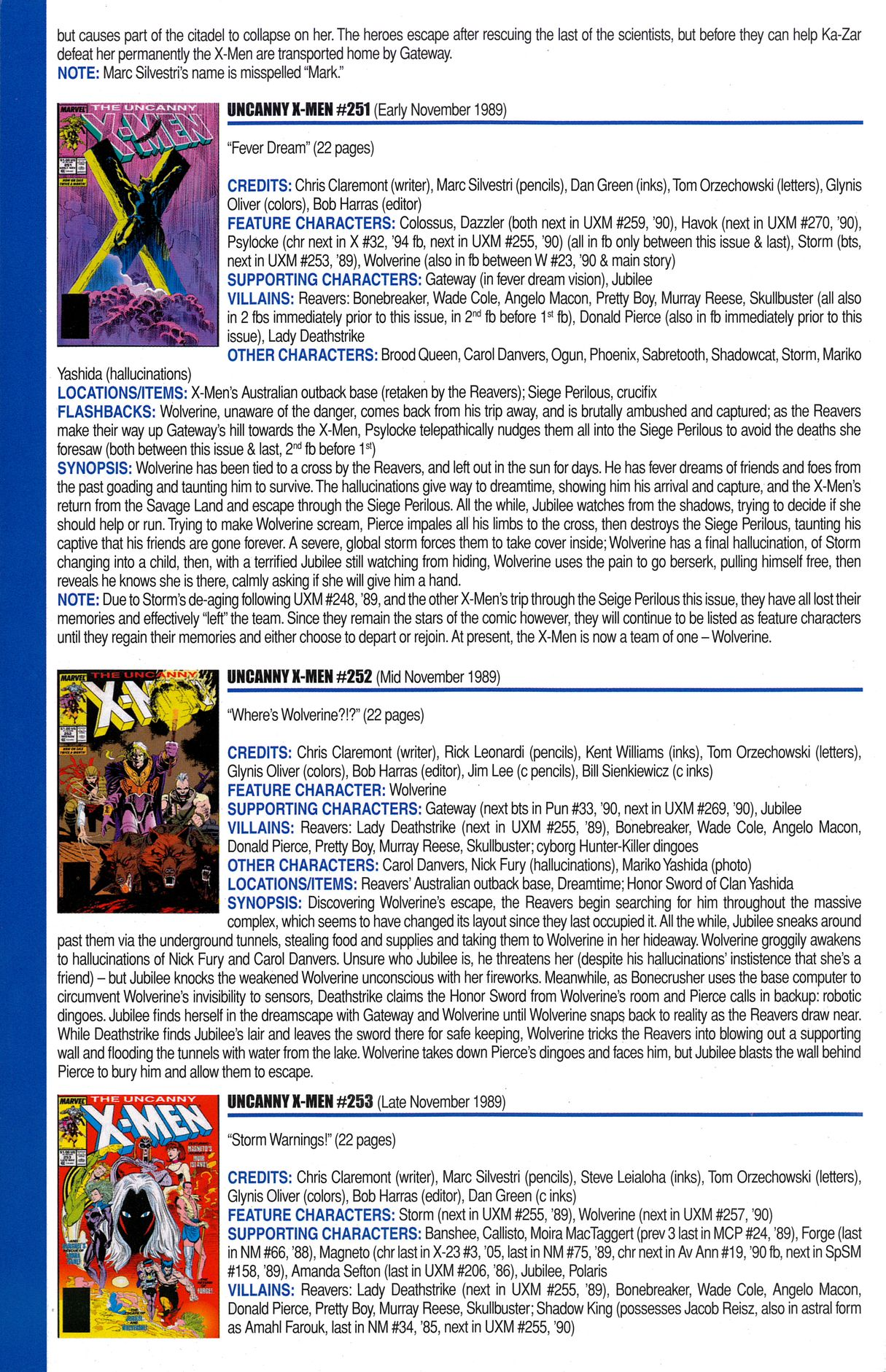 Read online Official Index to the Marvel Universe comic -  Issue #6 - 58