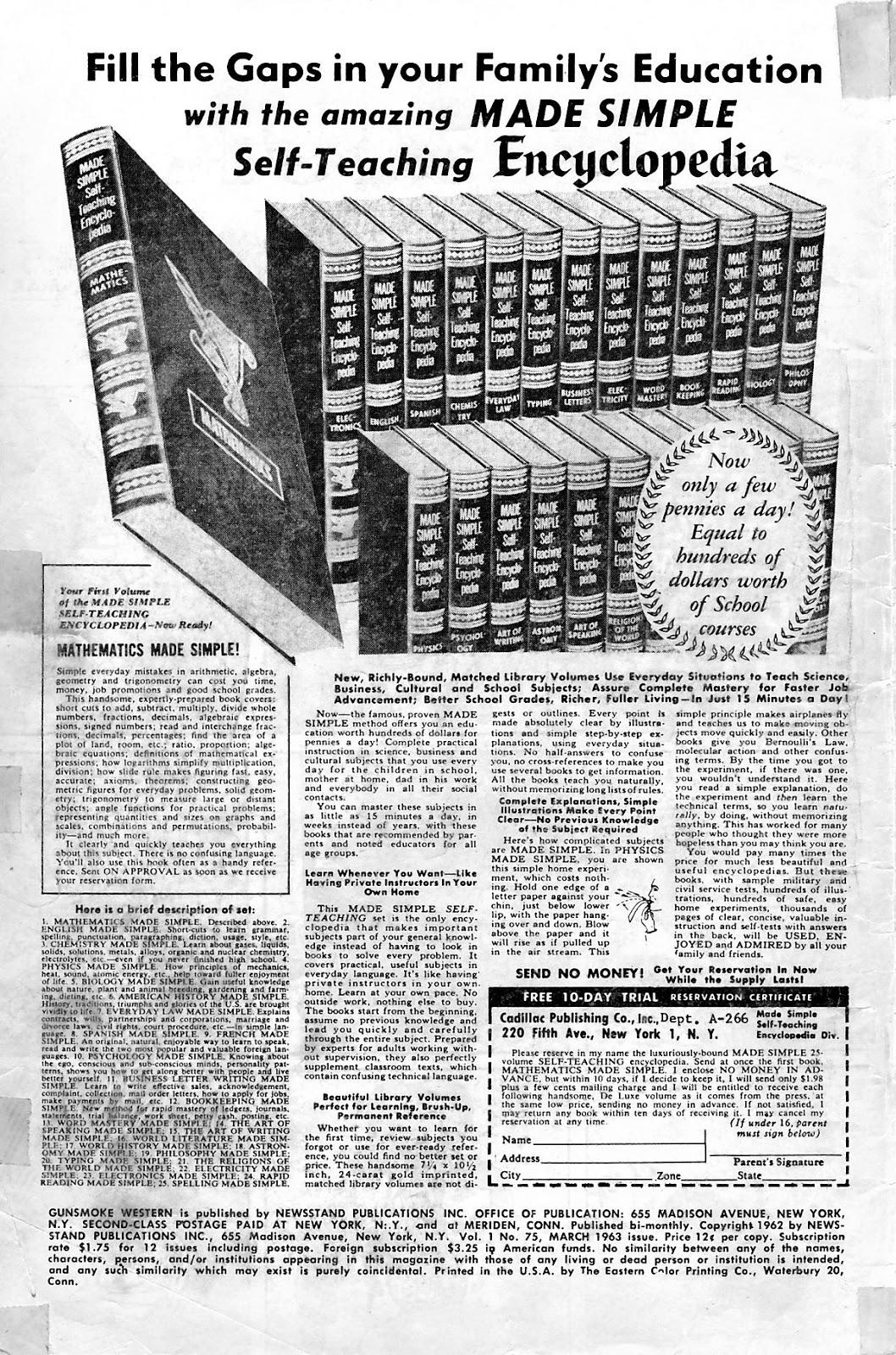 Gunsmoke Western issue 75 - Page 2