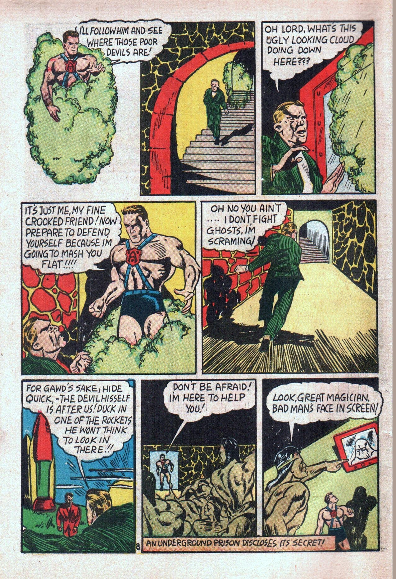 Read online Amazing Man Comics comic -  Issue #20 - 11