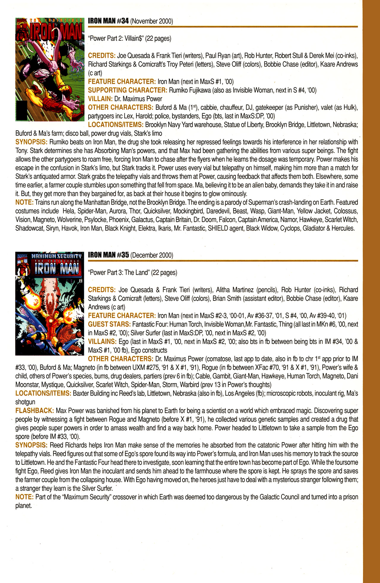 Read online Official Index to the Marvel Universe comic -  Issue #10 - 45