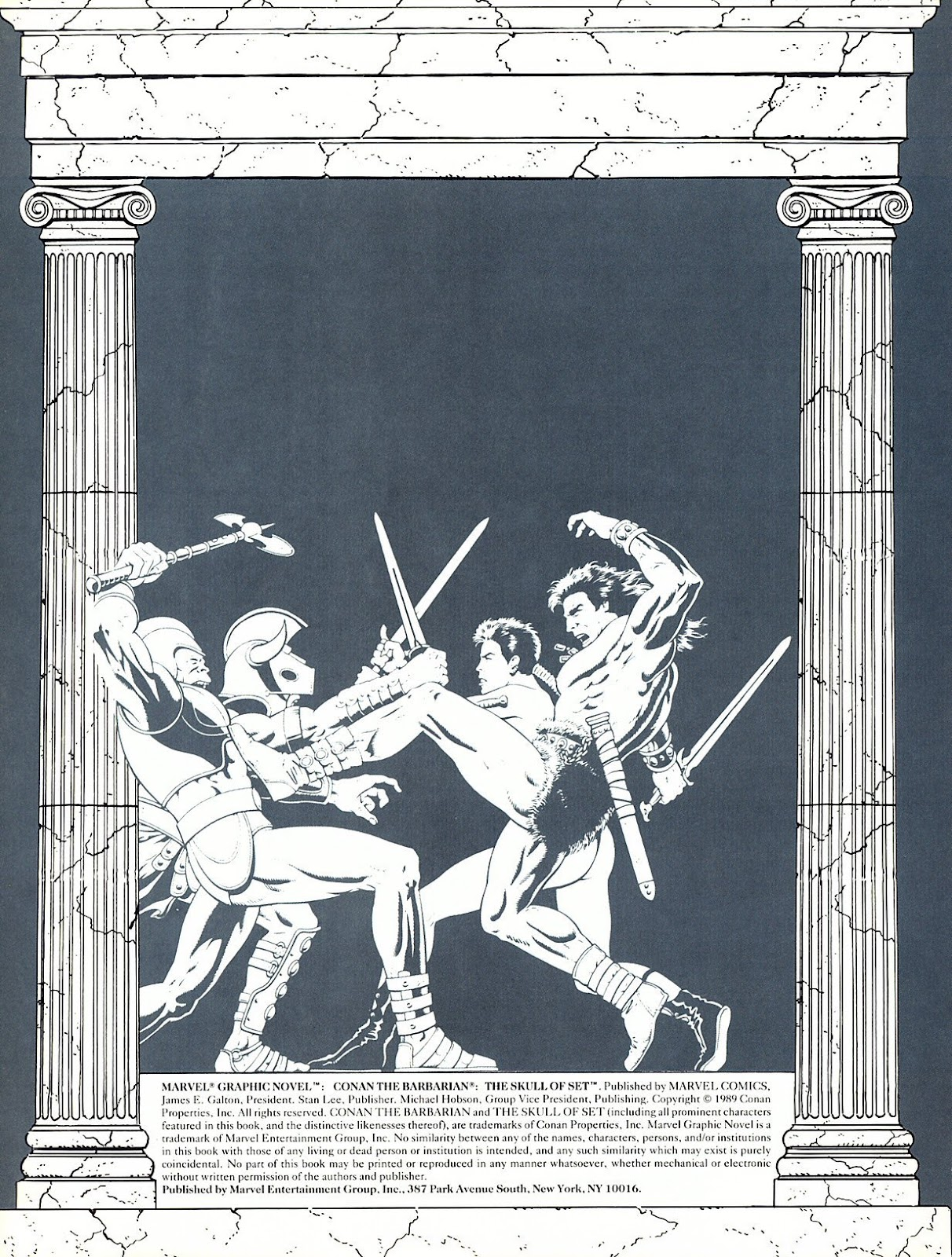 Read online Marvel Graphic Novel: Conan the Barbarian: The Skull of Set comic -  Issue # Full - 3