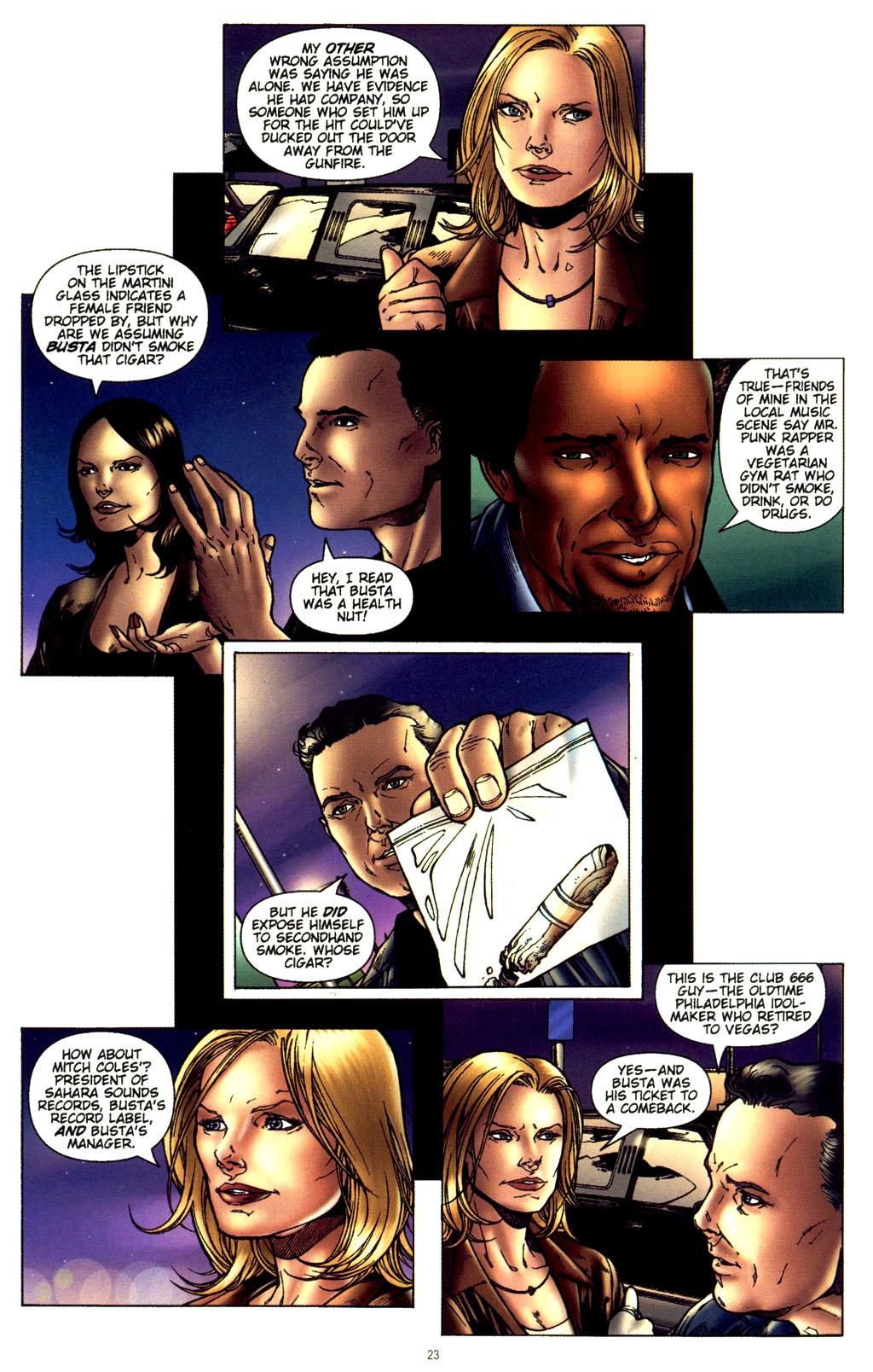 Read online CSI: Crime Scene Investigation: Bad Rap comic -  Issue #2 - 24
