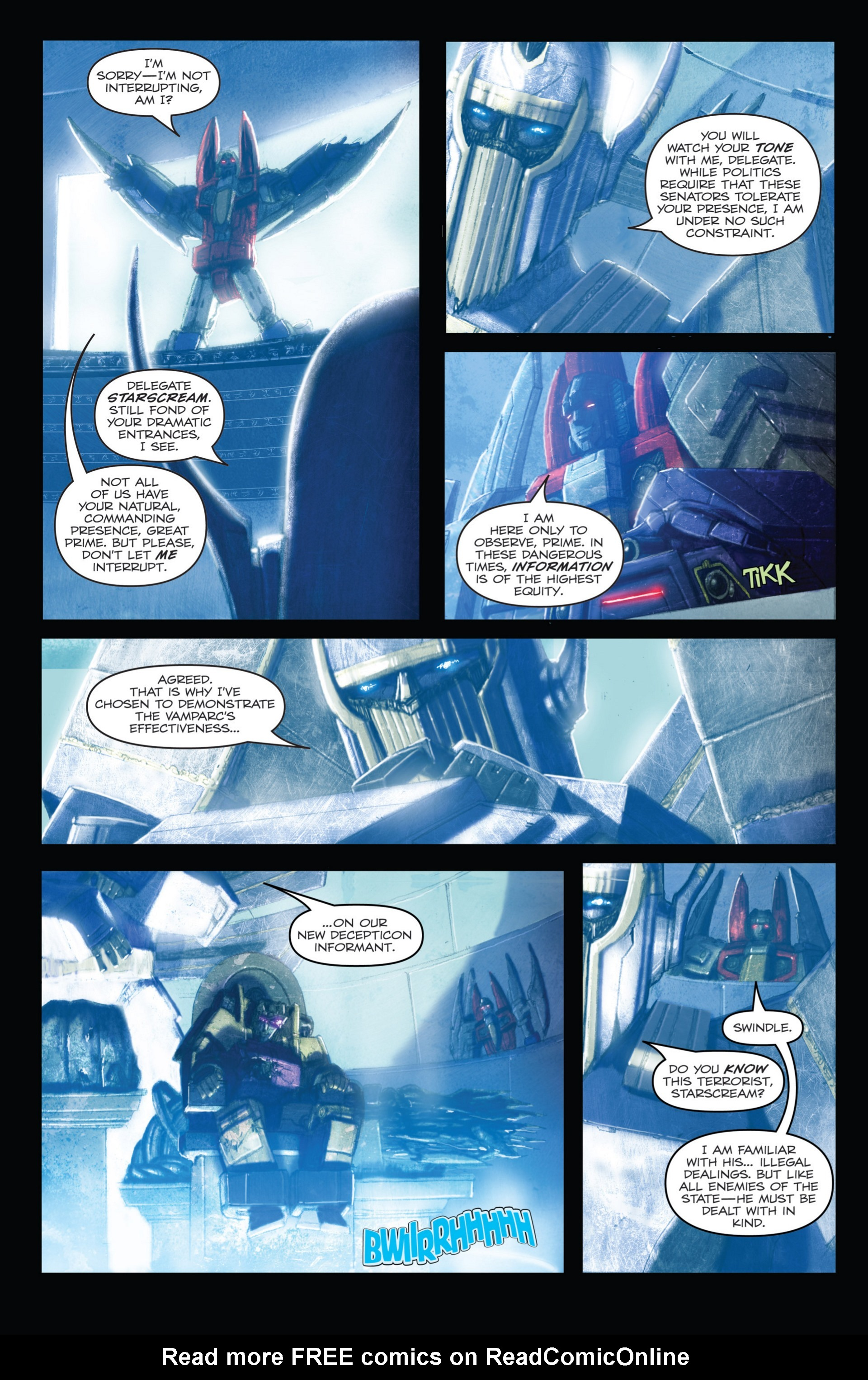 Read online Transformers: Autocracy comic -  Issue # Full - 18