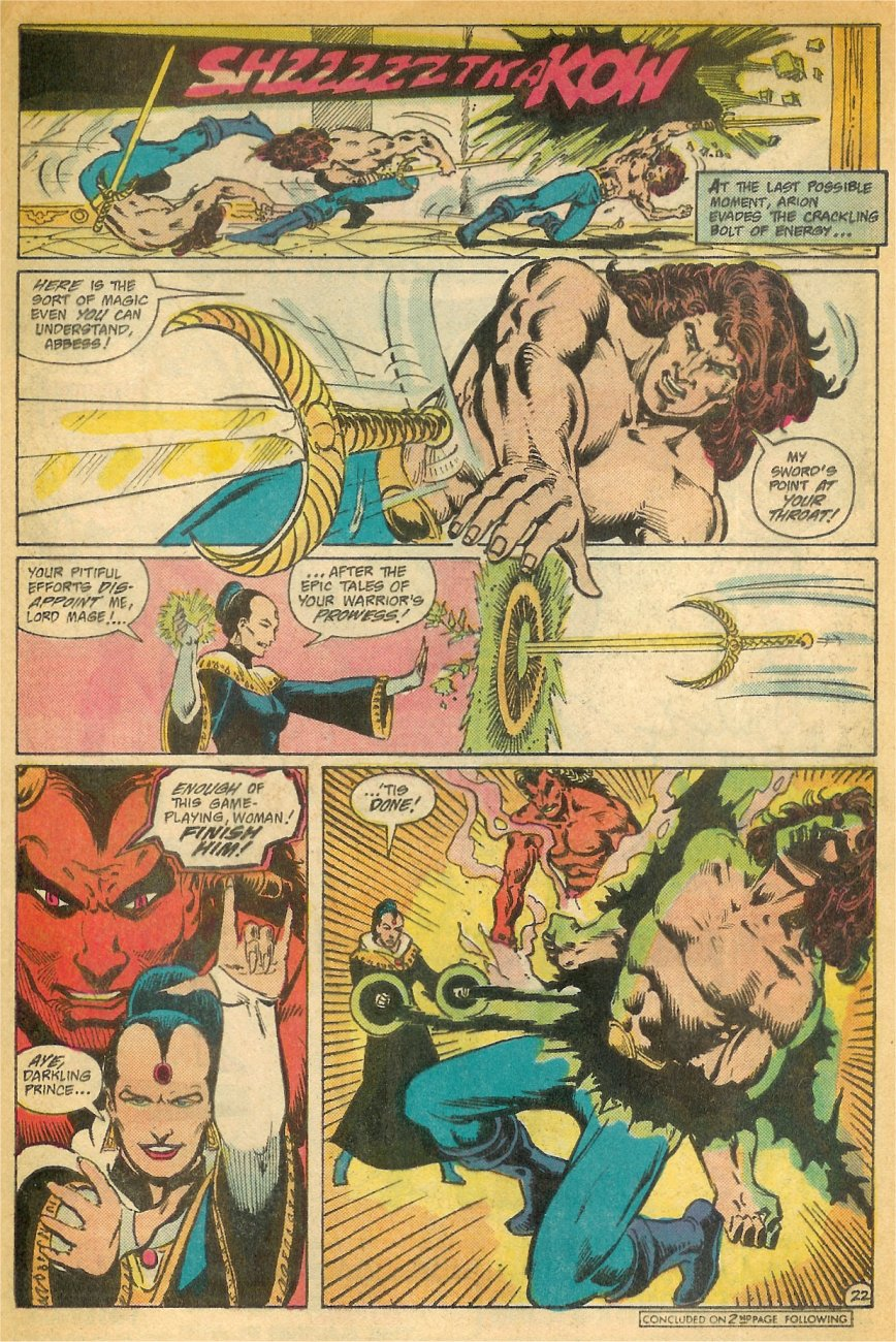 Read online Arion, Lord of Atlantis comic -  Issue #26 - 23