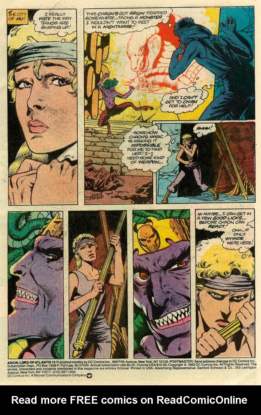 Read online Arion, Lord of Atlantis comic -  Issue #15 - 2